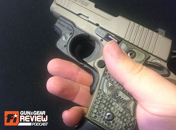 The Laserguard will shorten your grip area, so hopefully you have a finger rest on an extended magazine, or you're comfortable shooting with a two fingered grip.
