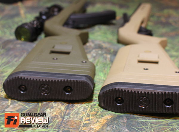 The recoil pads feel rugged enough for magnum calibers, overkill for rimfire but still welcome.