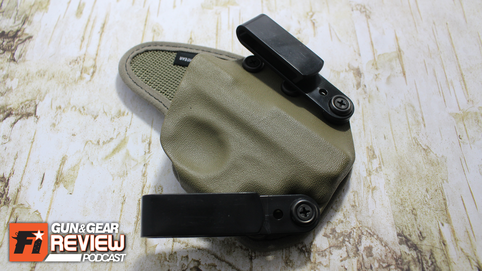 The AIWB holster came with two belt clips for the option of securing the gun angle.
