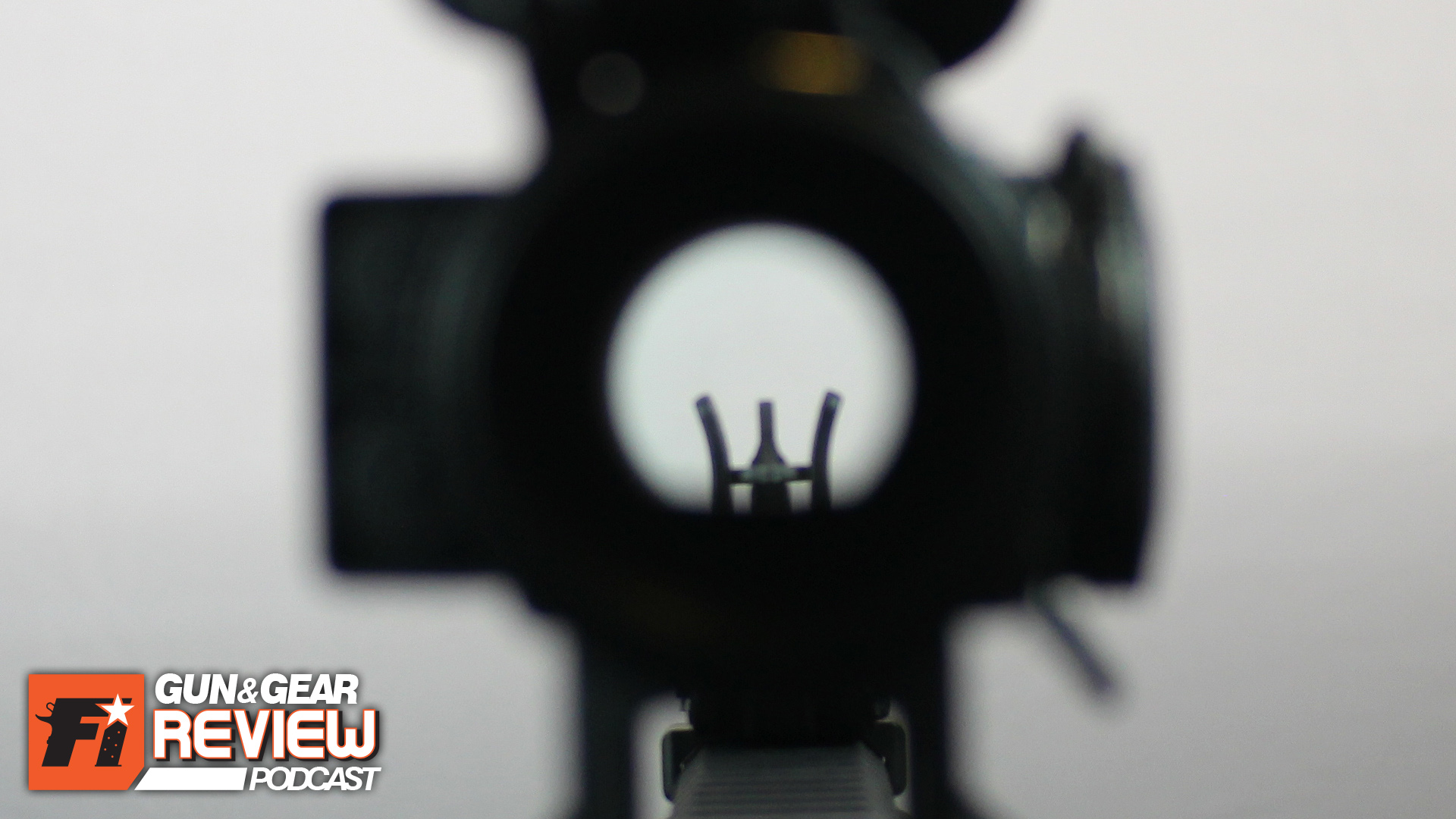 The inline configuration of the M²Sights has the traditional M16 sight picture, except for the partially exposed threads of A2 front sight post. -