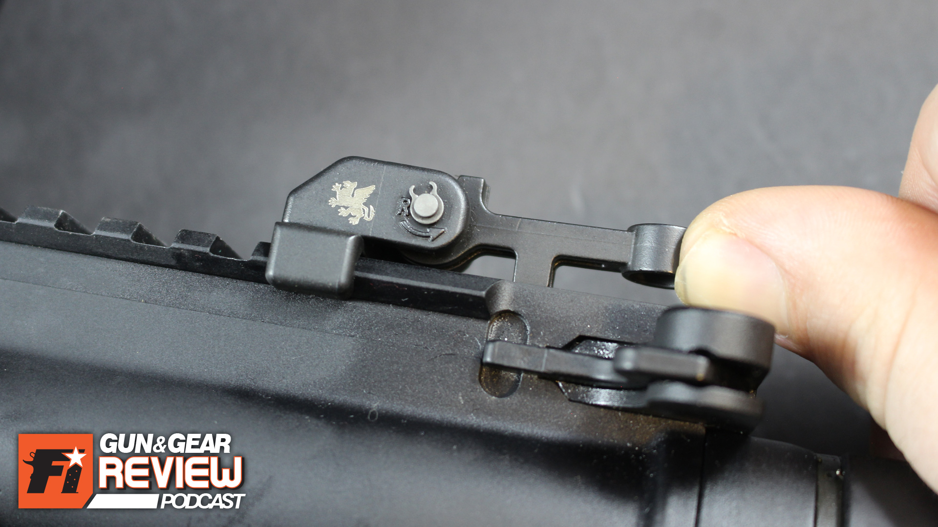 Should the need arise for iron sights, it only takes a few seconds to manual pull the front and rear sights up in the ready position. -