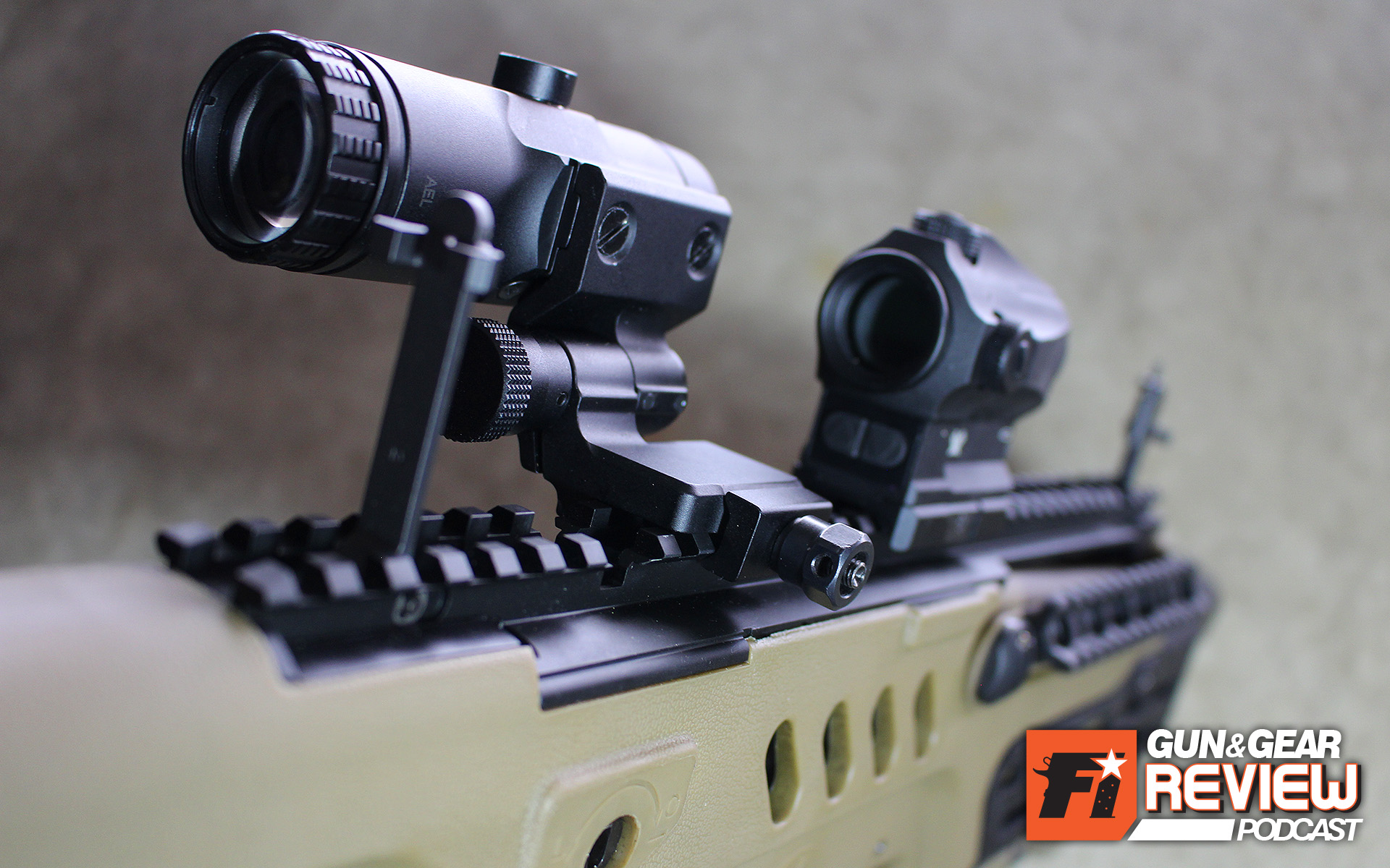 The magnifier flips to the side to allow naked use of the red dot optic, as well as cowitnessed iron sights. Tavor owners just need to be sure to mount the magnifier forward enough the clear the picatinny rail integrated rear sight.