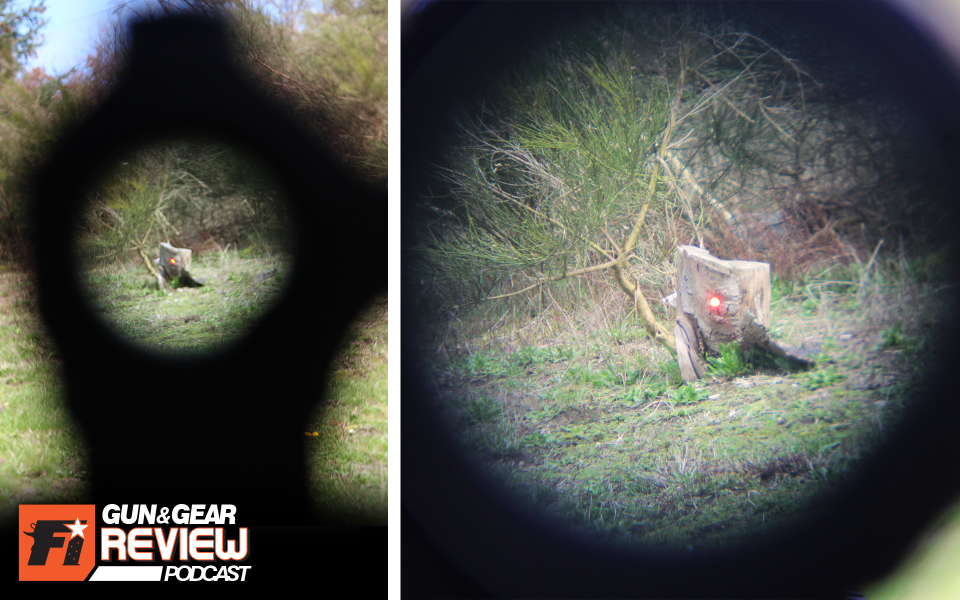 Even at distances inside 50 yards, the magnified view (right) offers more detail than the naked red dot (left). 3x might not be as helpful at 100 yards, but its a hell of a difference than without magnification at all.