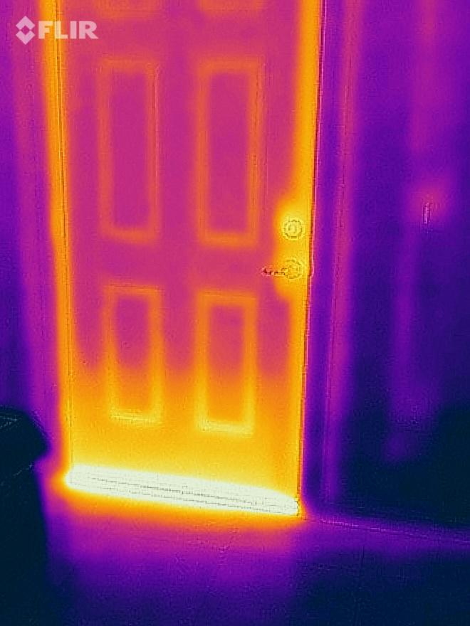 This is a photo of my front door taken from inside of the house at 4:00pm (door faces west)