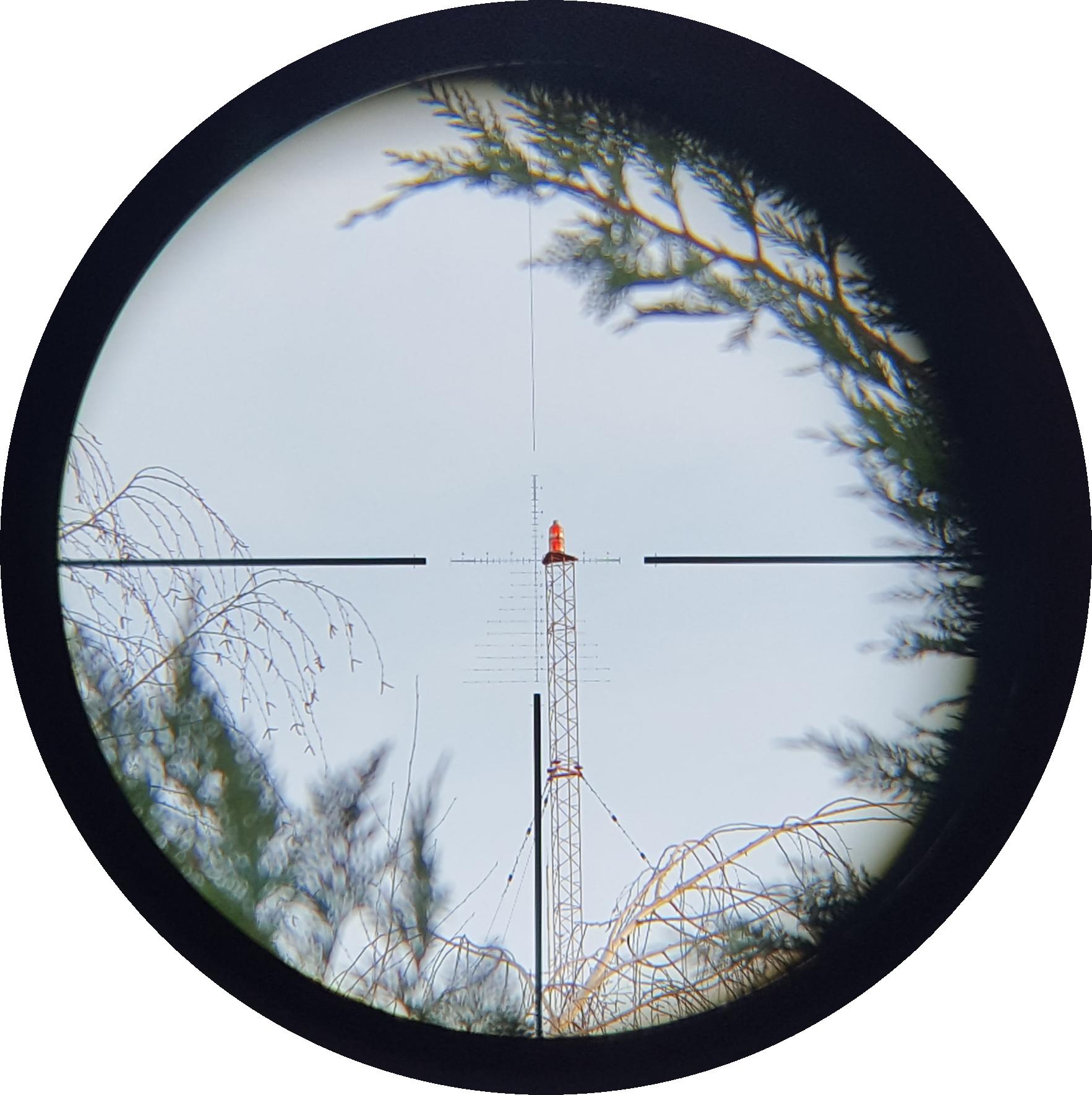 250 yards, sunny day, 5x