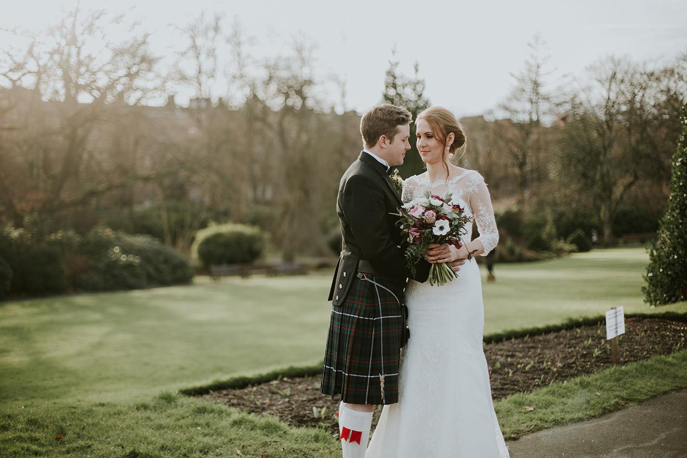 Kibble palace Glasgow botanic wedding, Oran Mor wedding, In the Name of Love Photography