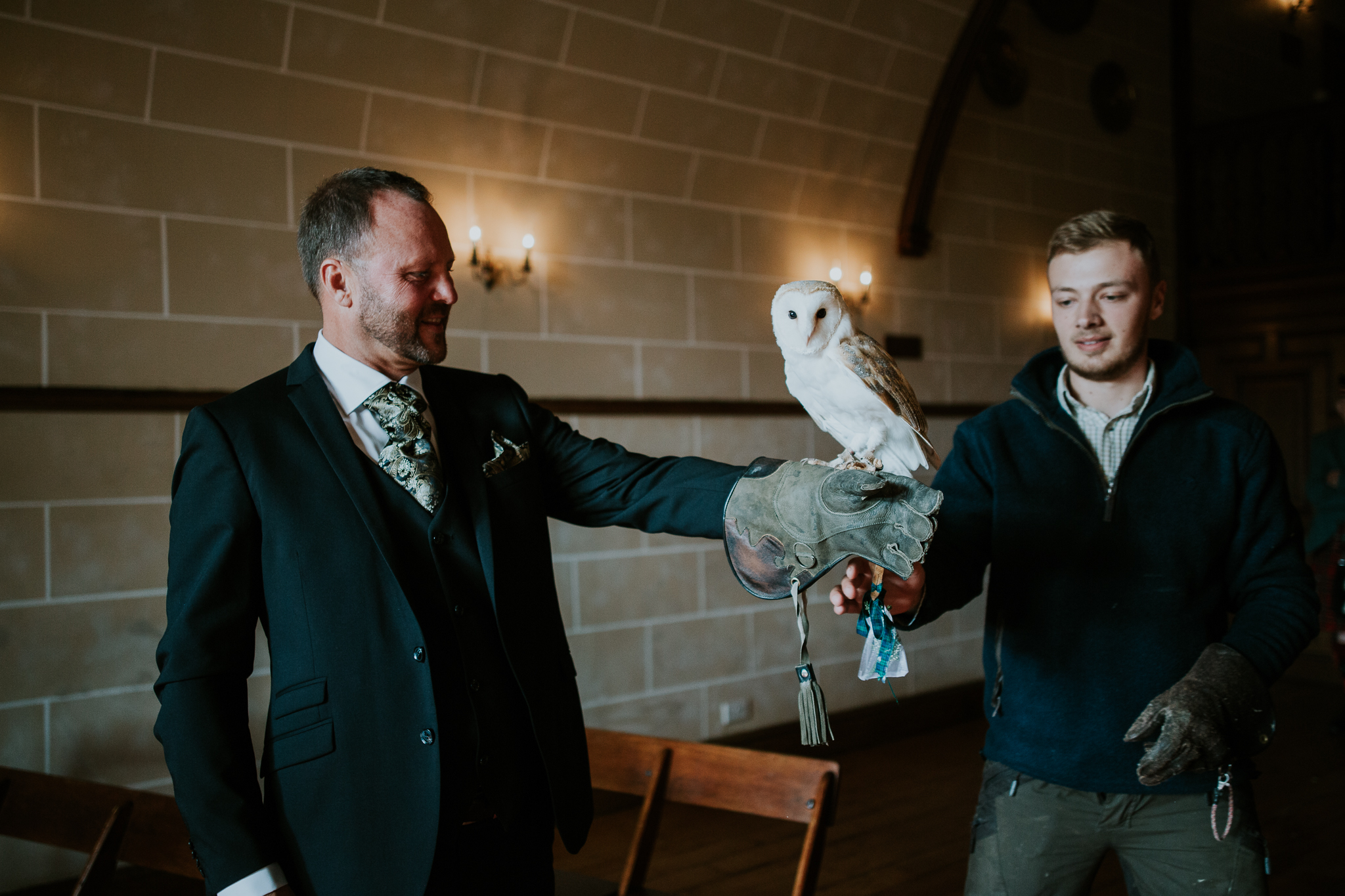 The owl is bringing the wedding rings.