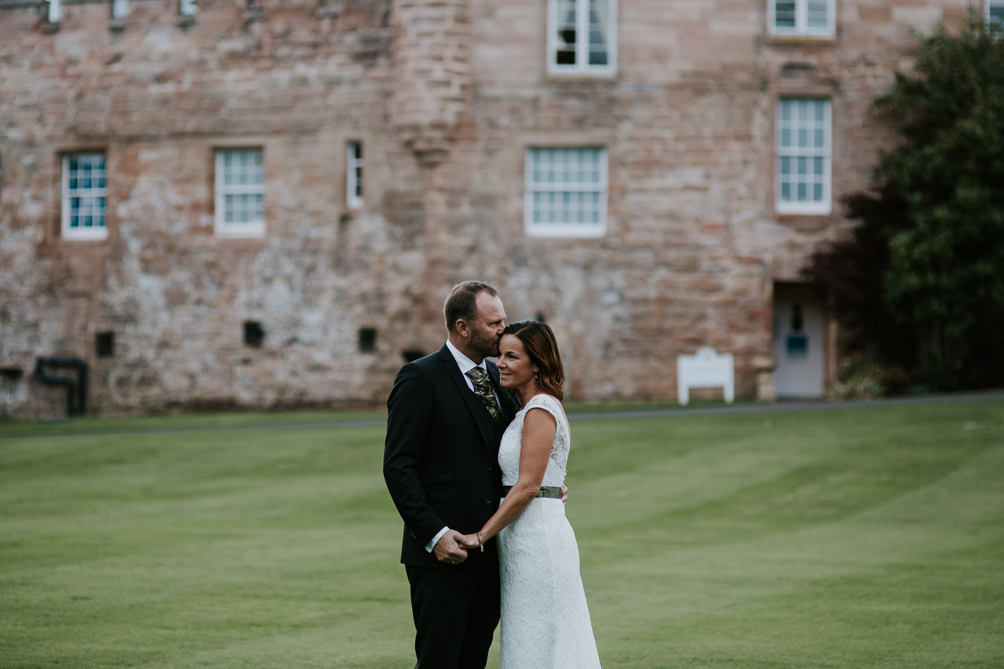 Romantic couple shoot at Dalhousie castle.
