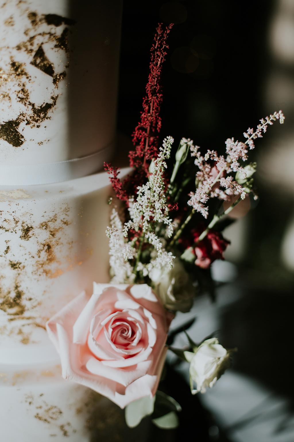 Creative wedding cake for the alternative wedding couple