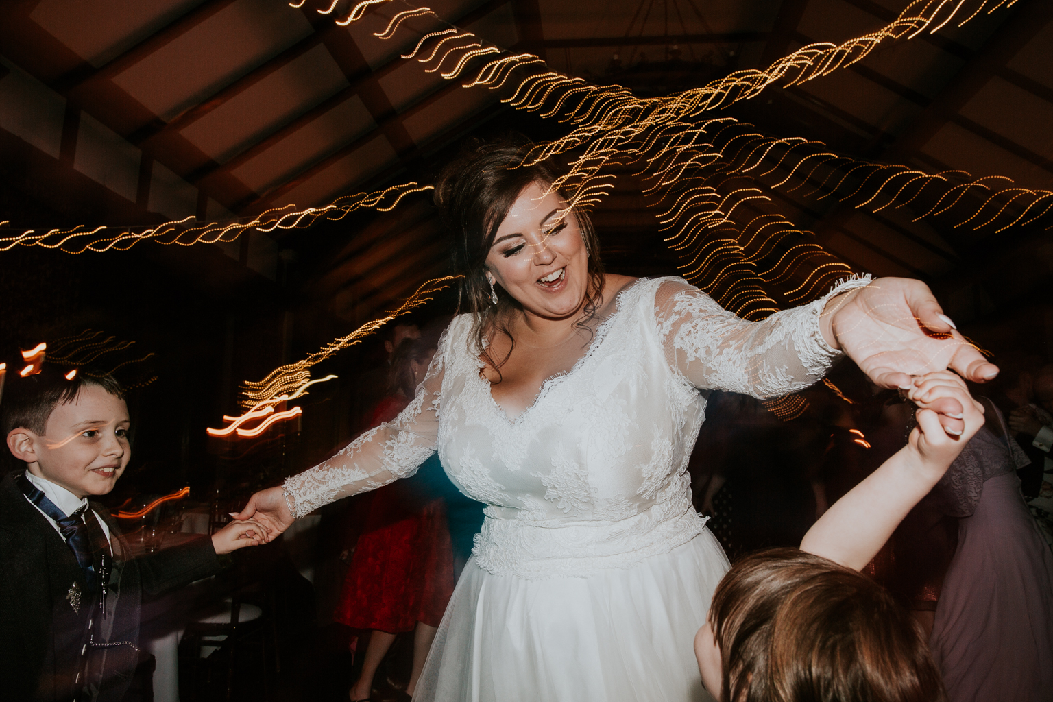 The bride on a dance floor