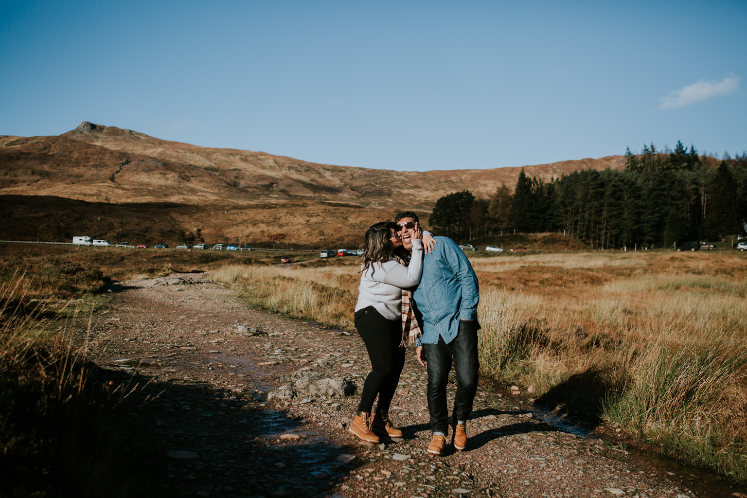 A happy couple photoshoot in Glencoe, Scotland