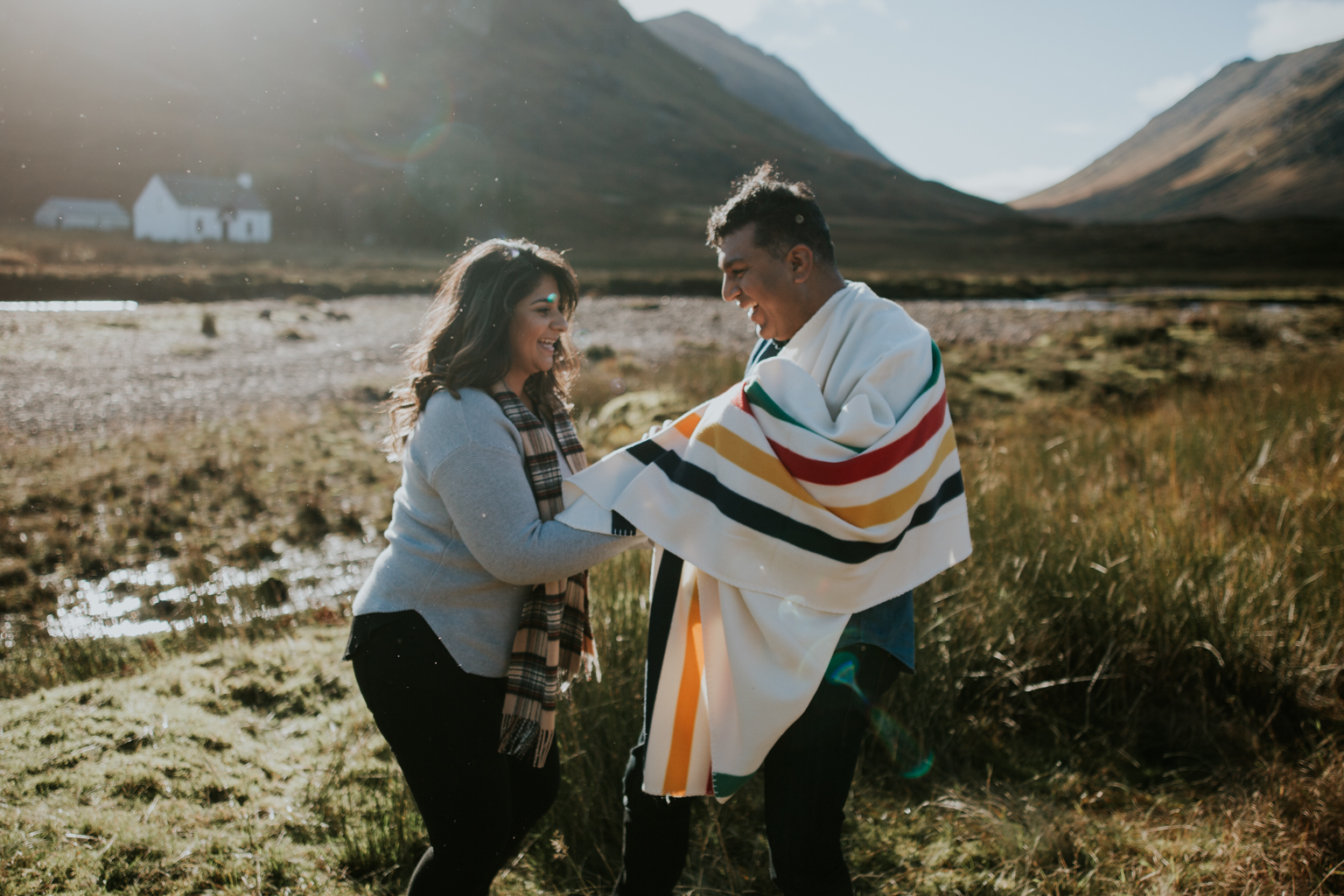 A very happy couple in Glencoe, Scotland