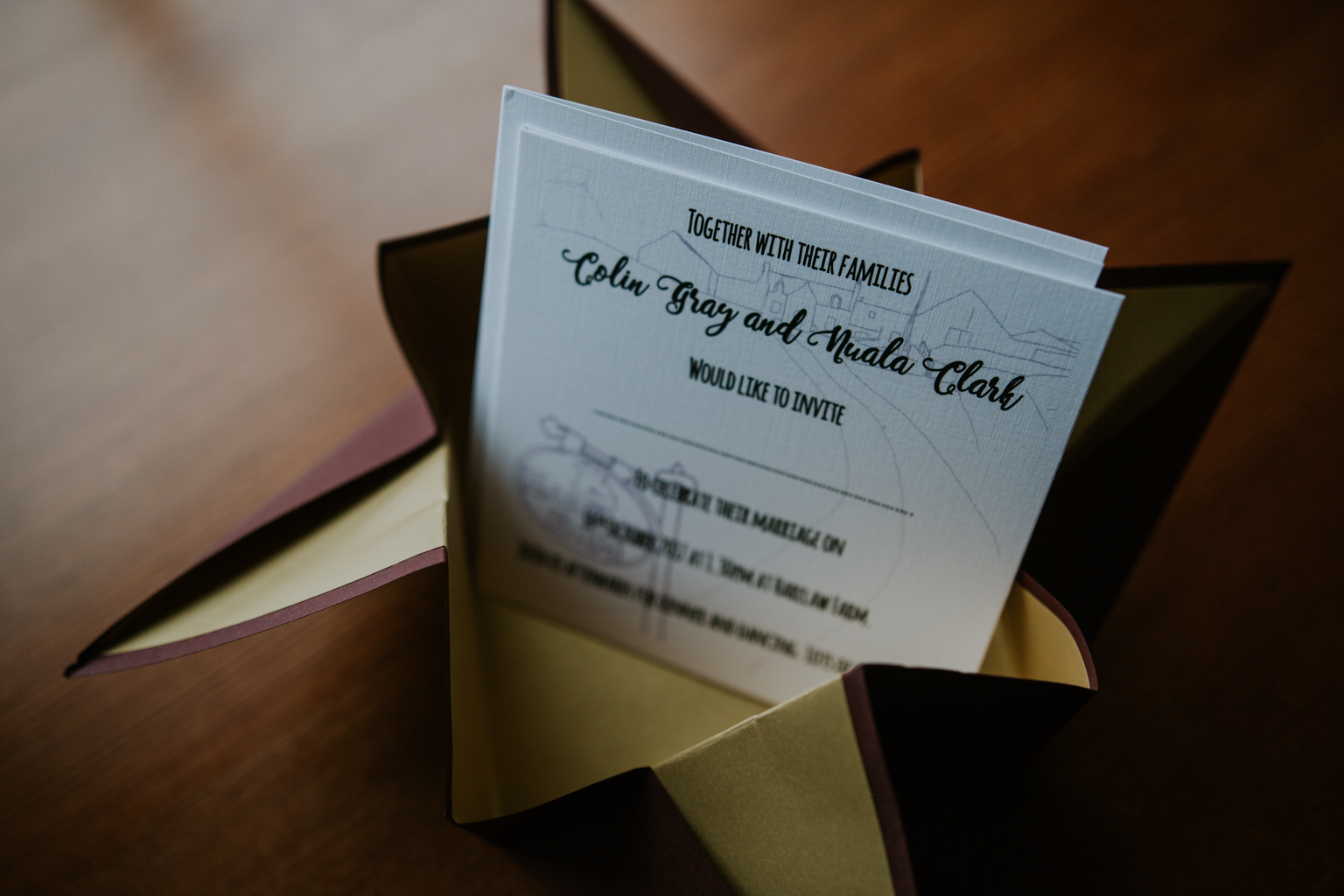 Colin's DIY wedding details, Harelaw farm wedding