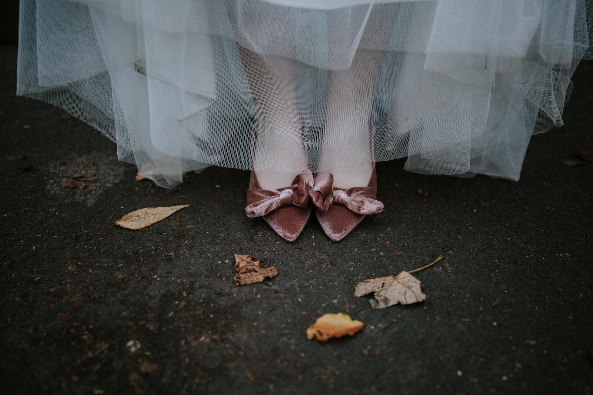 Bridal vintage wedding shoes