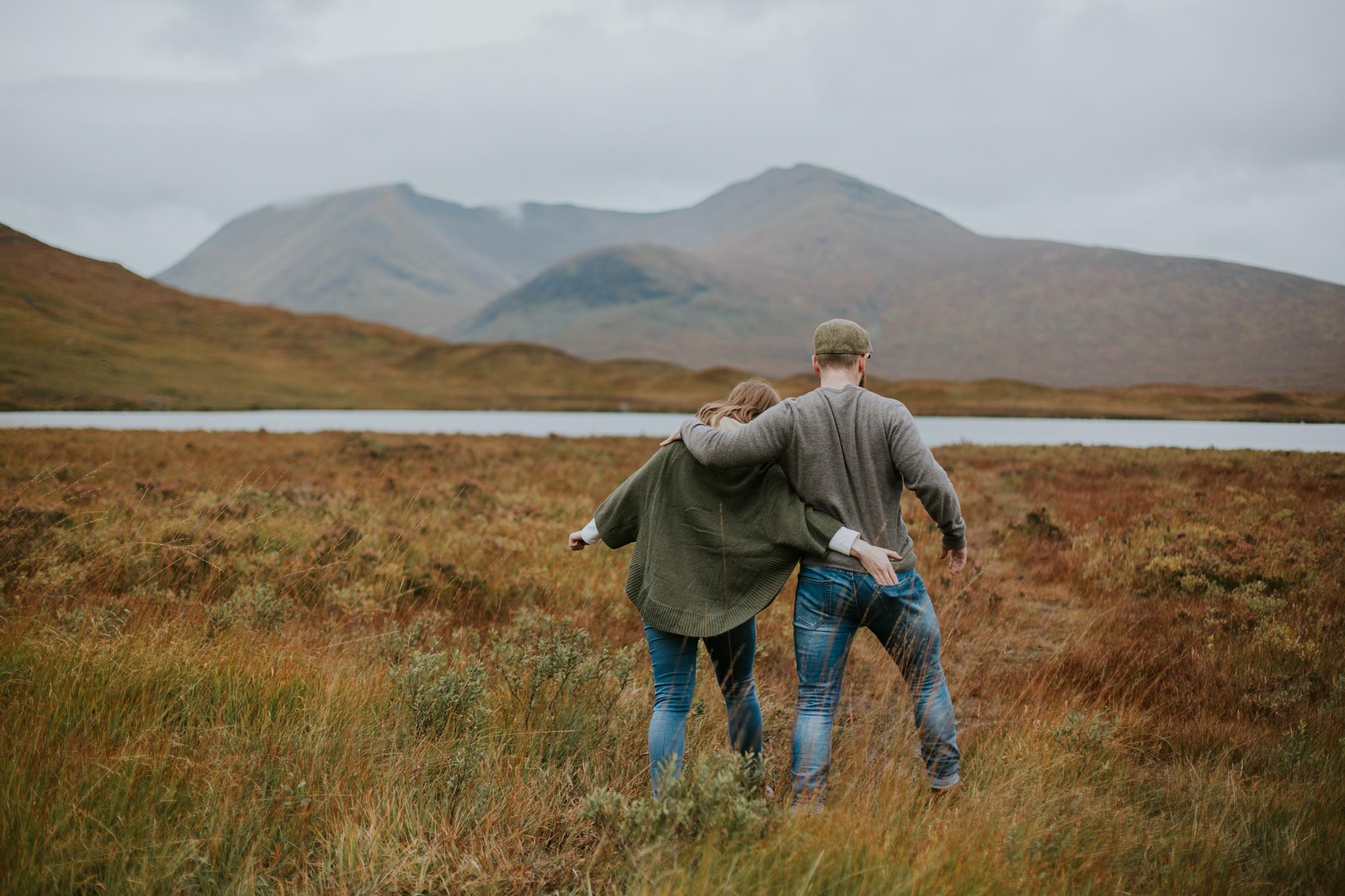 Couple shoot photographing in the Scottish Glencoe