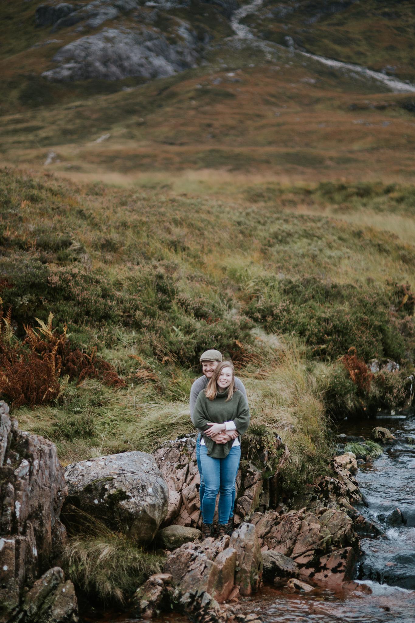 The happy couple in the Scottish Glencoe elopement