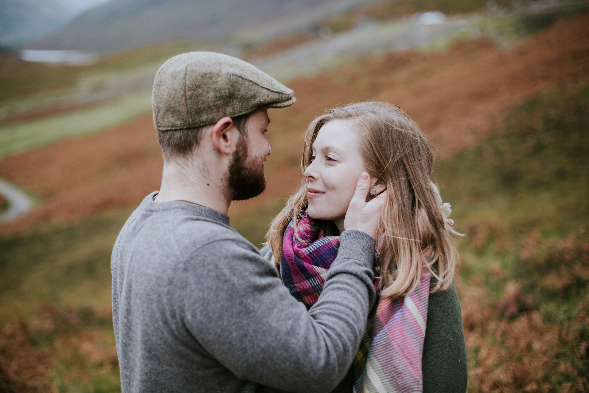 A romantic love photo session in the Scottish Glencoe