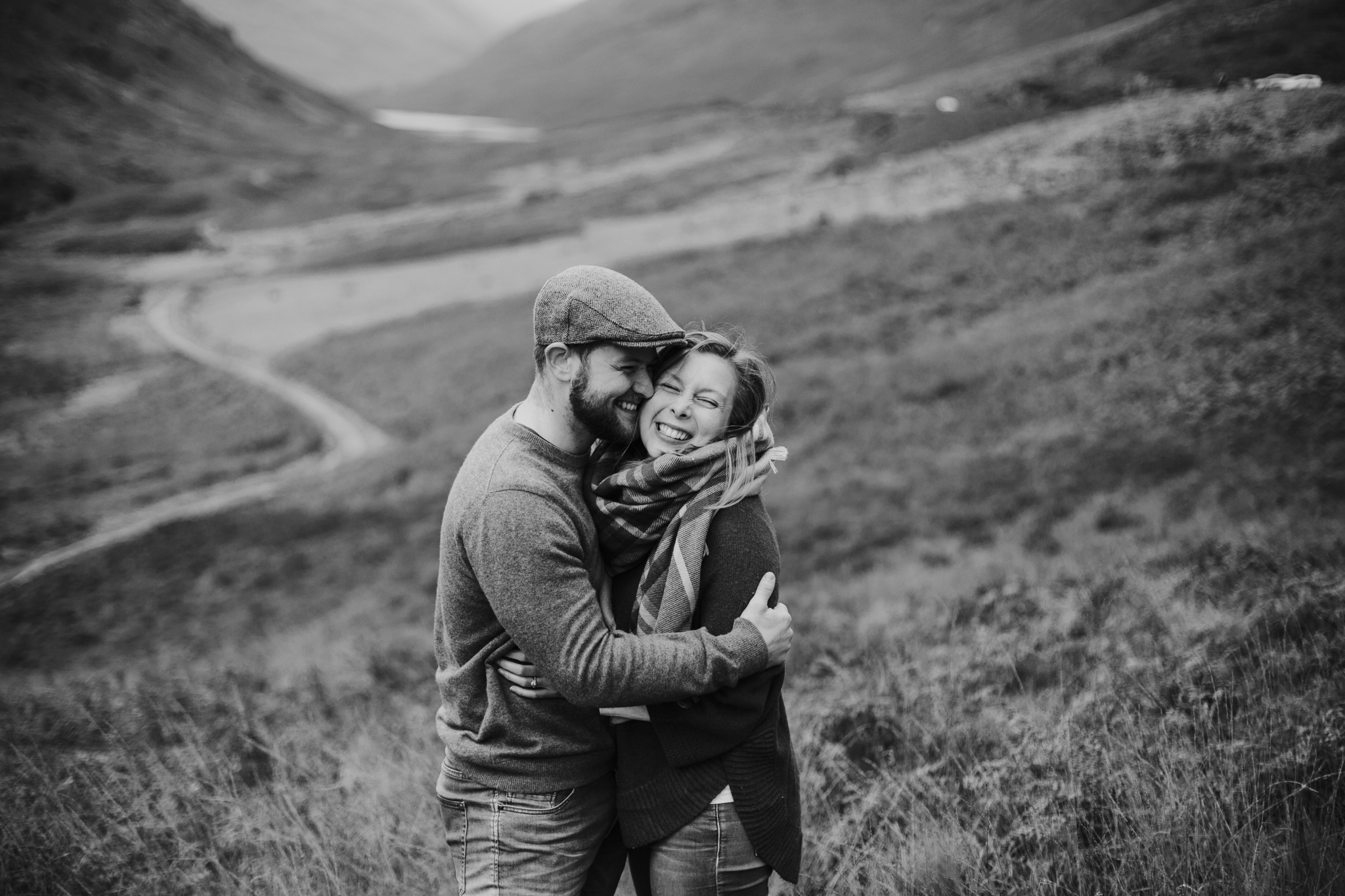 Anniversary photo shoot in the Scottish Highlands, Glencoe