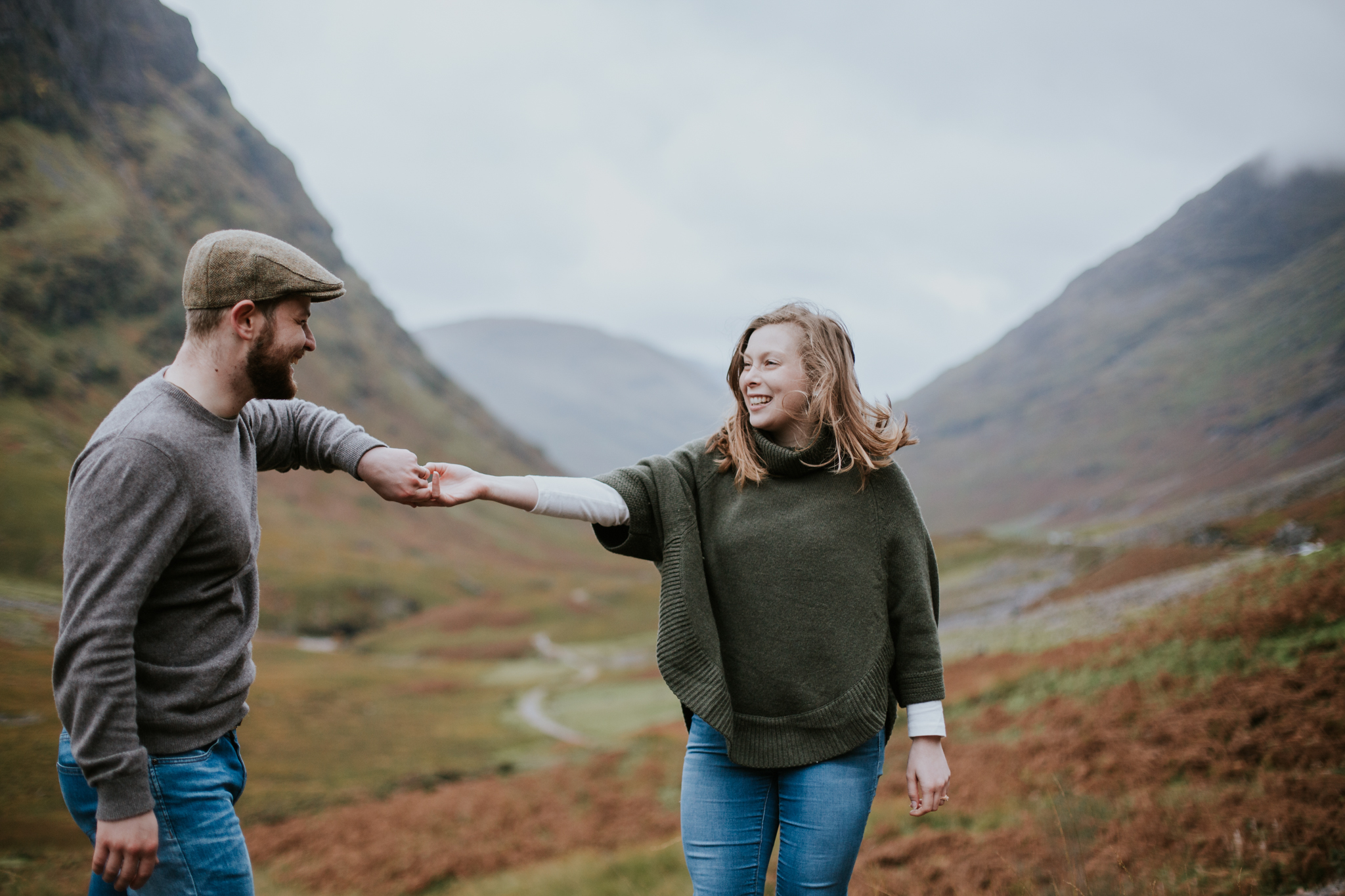 Vow renewal elopement in the Scottish Glencoe