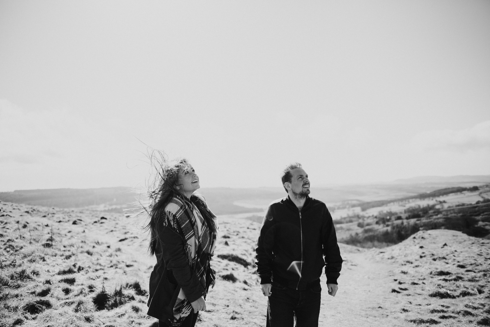 Documentary creative and natural wedding and engagement photography Scotland