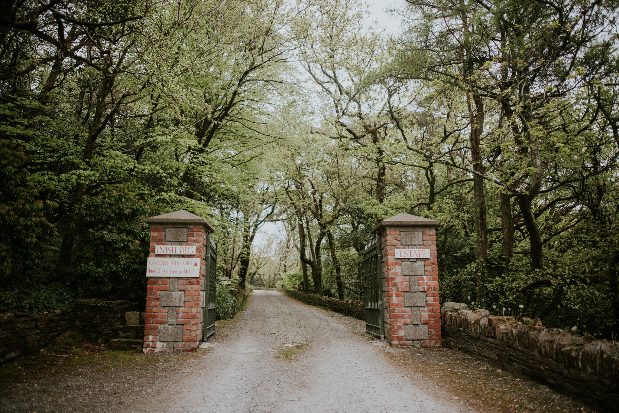 Entrance to the wedding venue in Cork - Inish Beg Estate Wedding Photographer