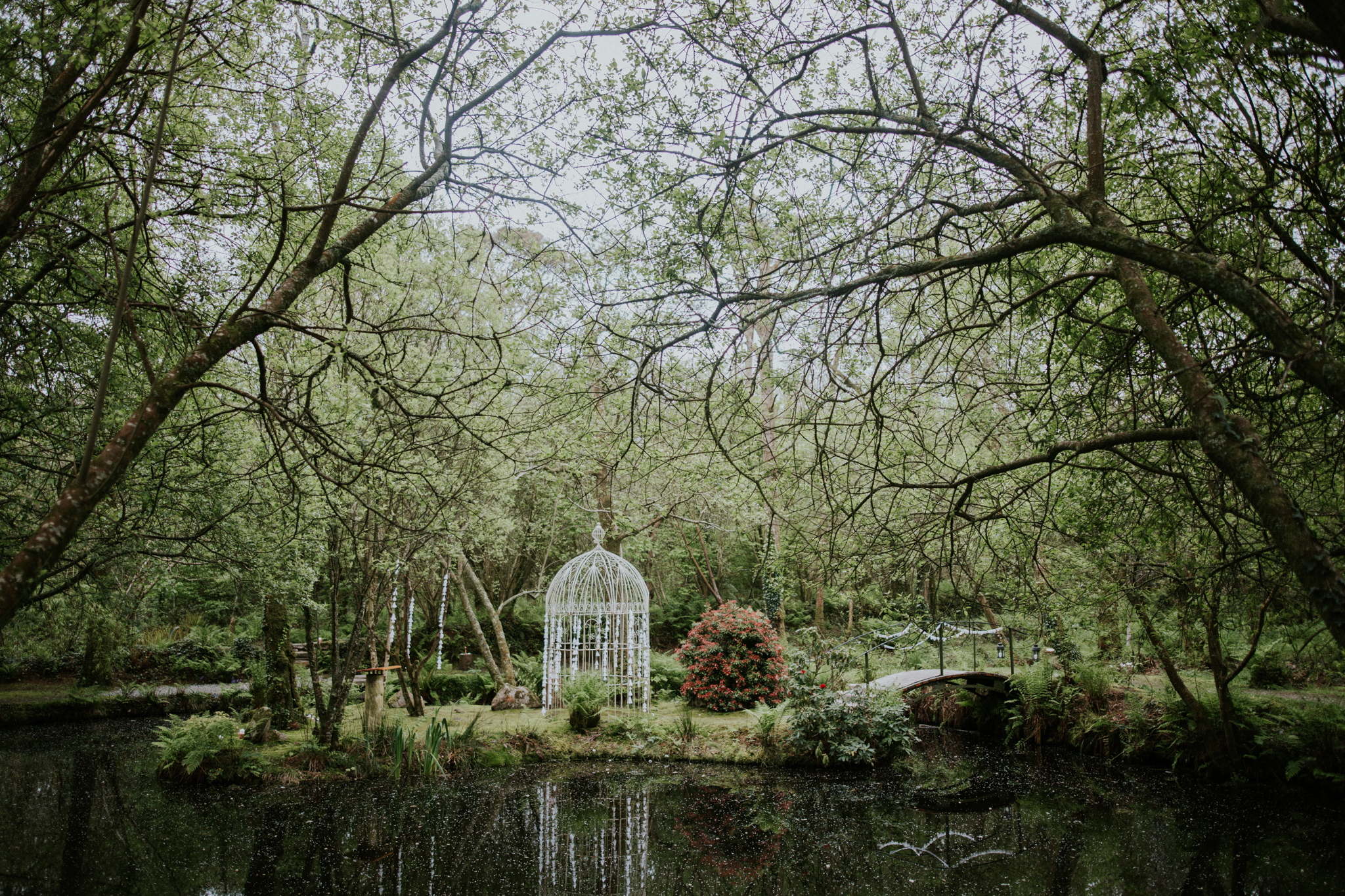The outdoor boho theme wedding ceremony at the Inish Beg Estate in Cork, Ireland Wedding and Elopement Photographer