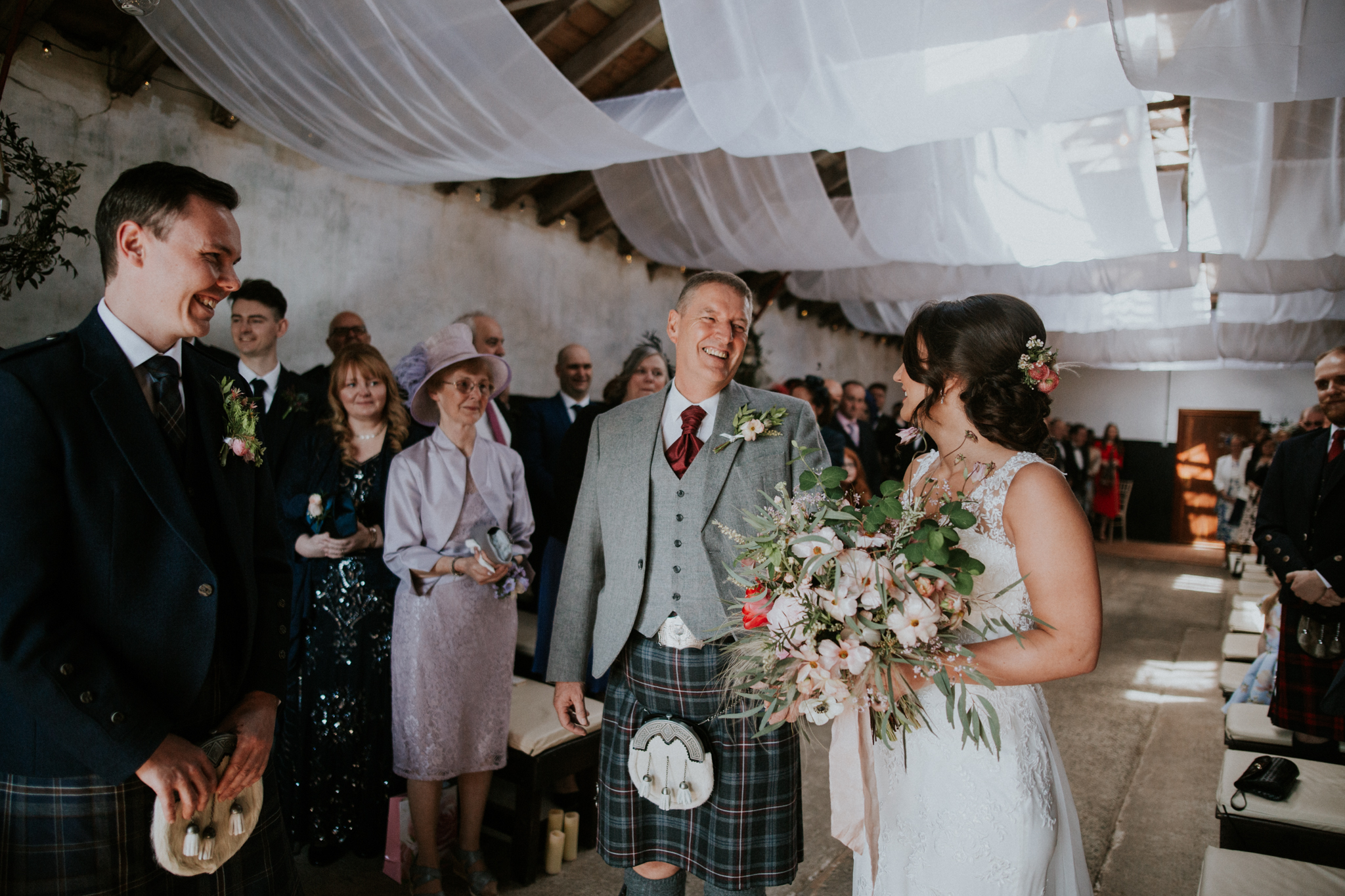 Real, emotional documentary style wedding photography in Scotland