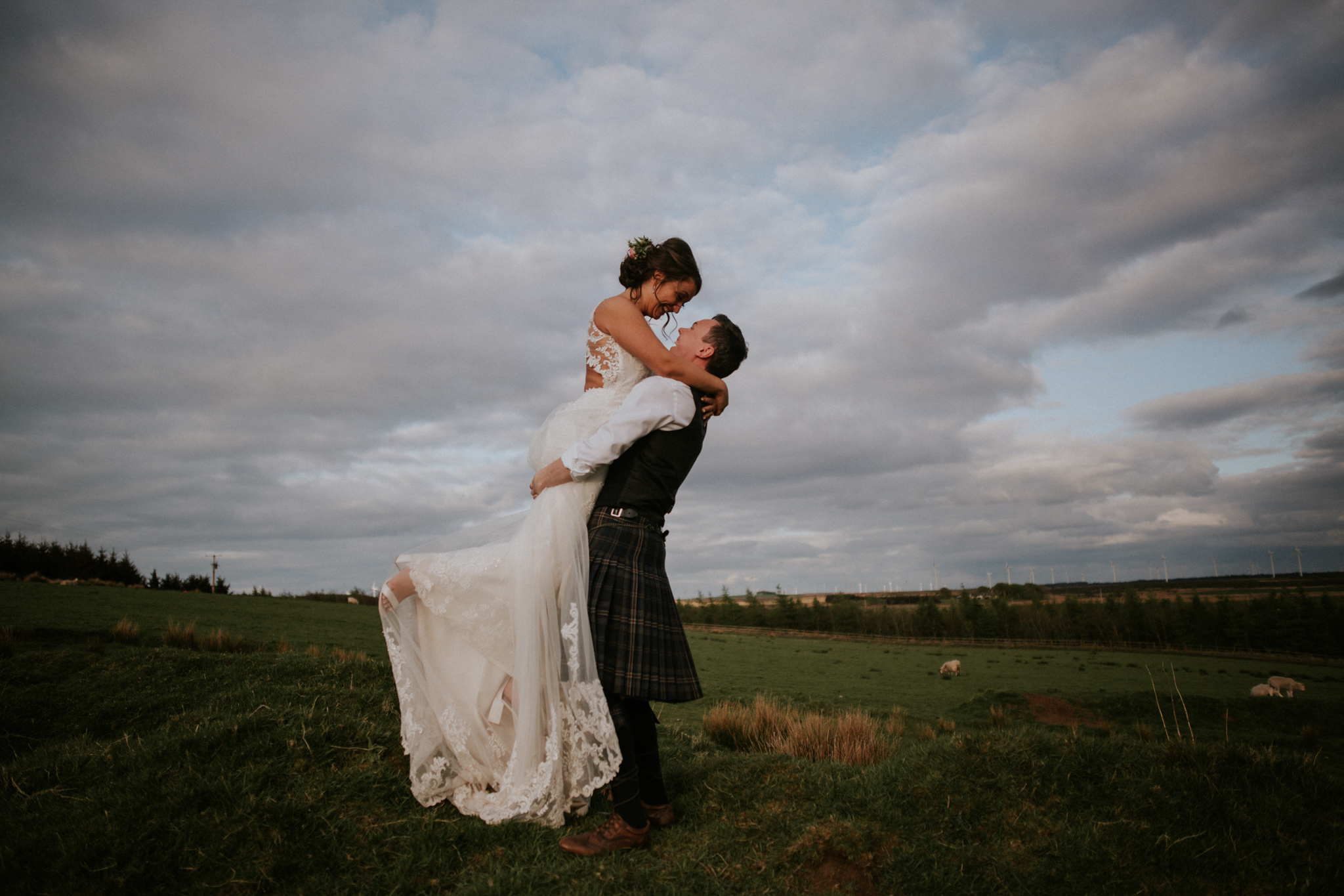 Evening couple shoot at the Harelaw farm