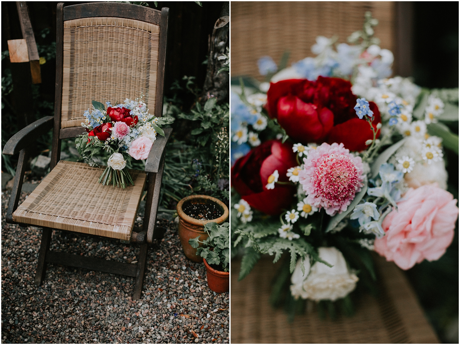 Boho style wedding flowers by The Floral Design Boutique