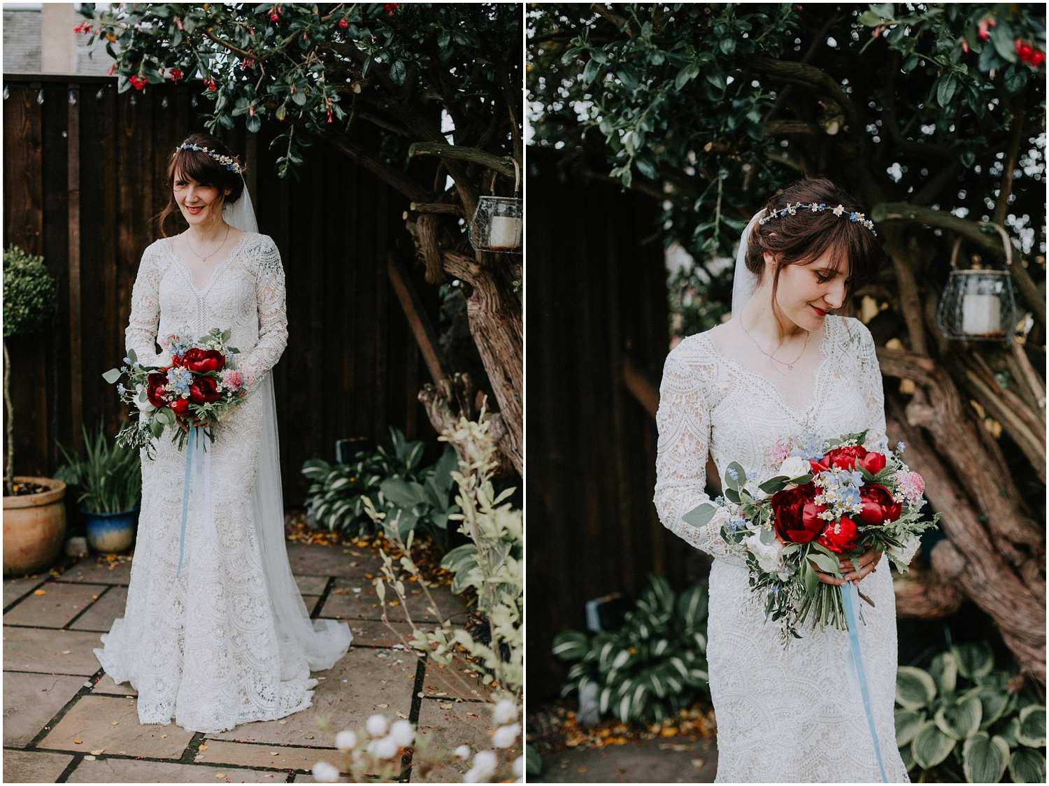The outdoor natural bridal portrait