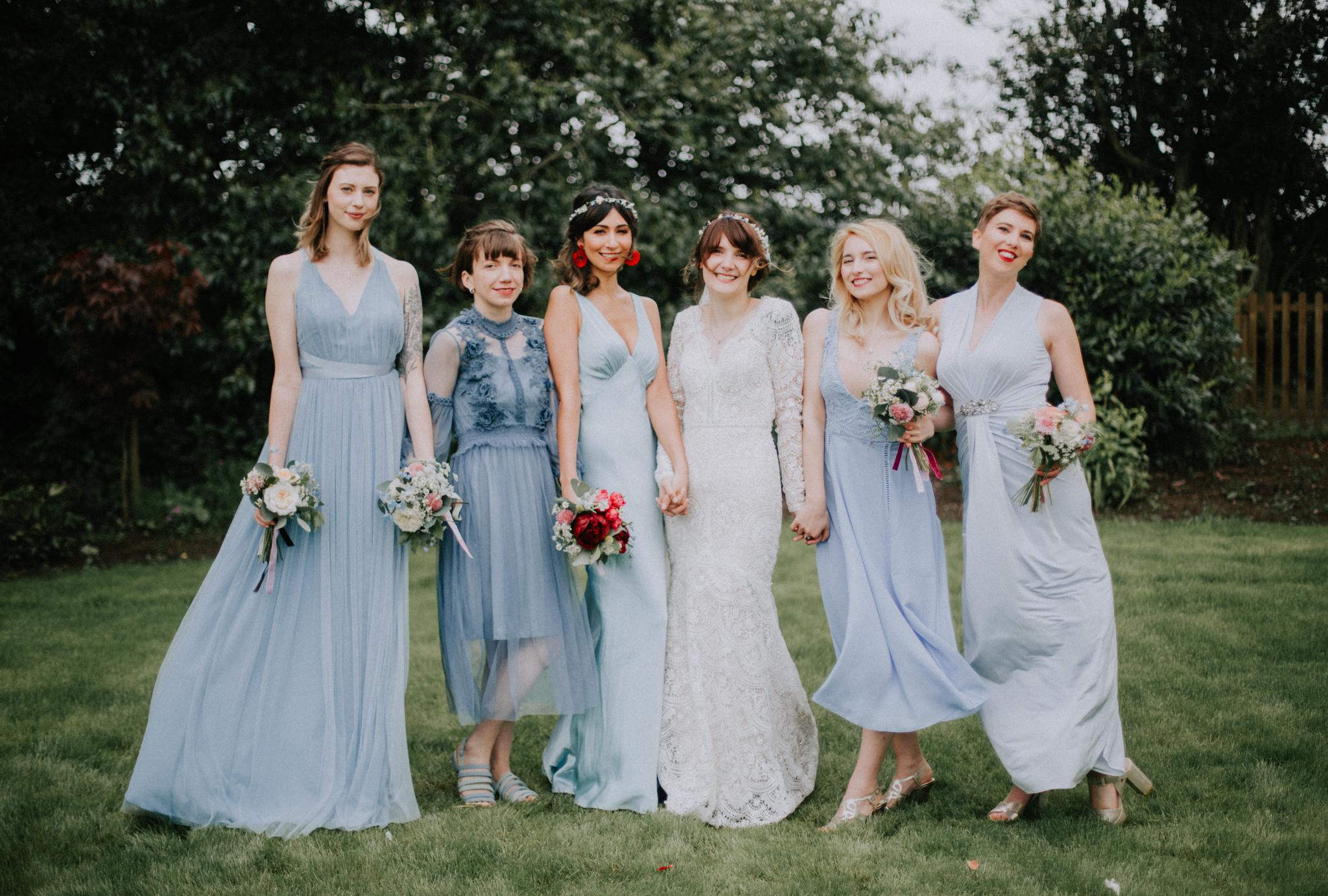 The bohemian bridal party