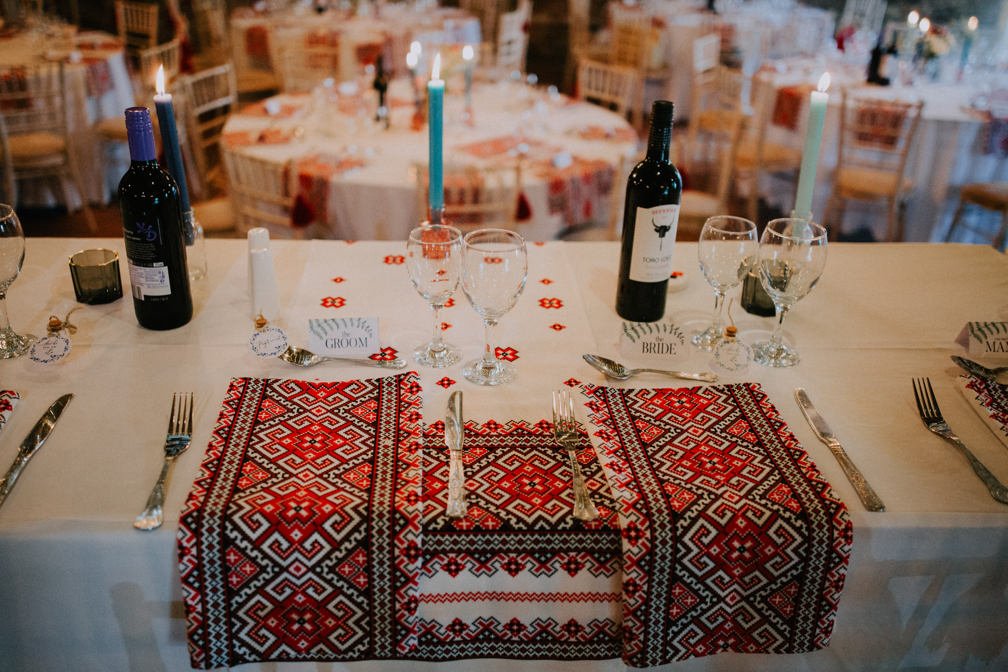 The Romanian traditional stuff on the tables
