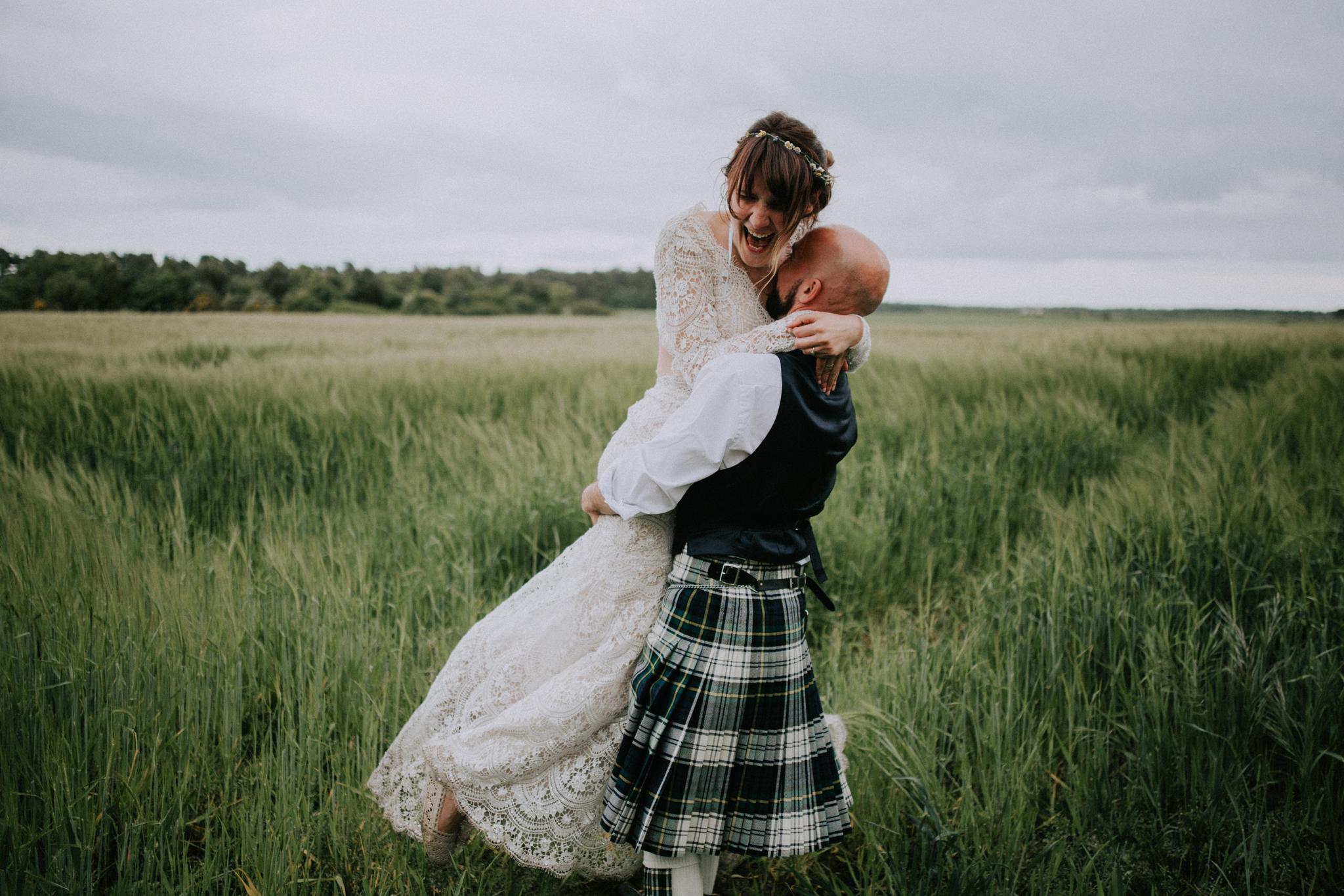 A modern wedding photography