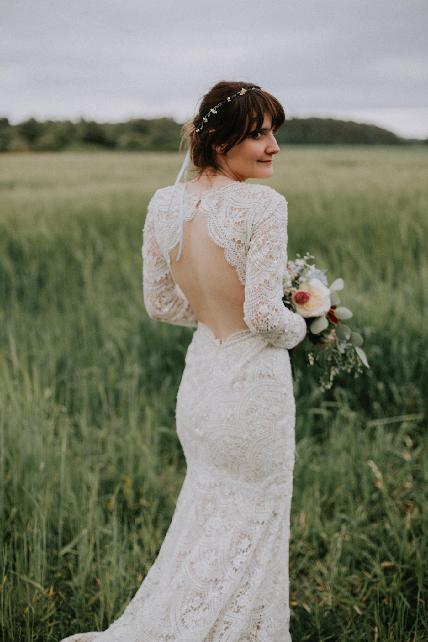 The evening bridal portrait