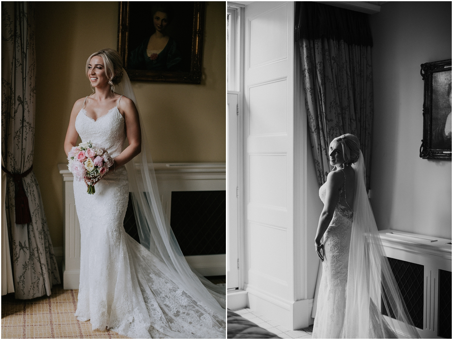 The bridal portraits at the Crossbasket Castle
