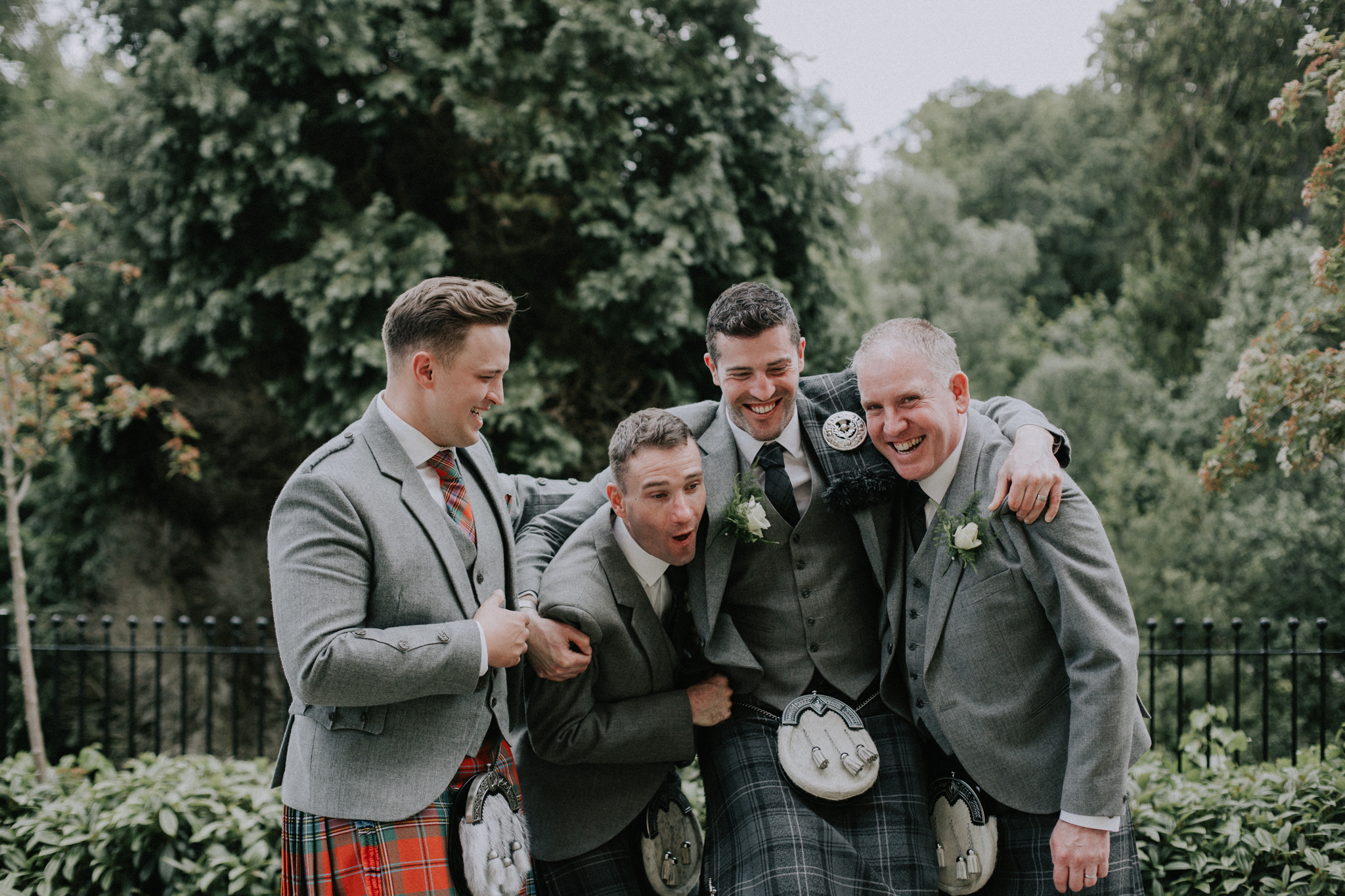 The fun groom party photo