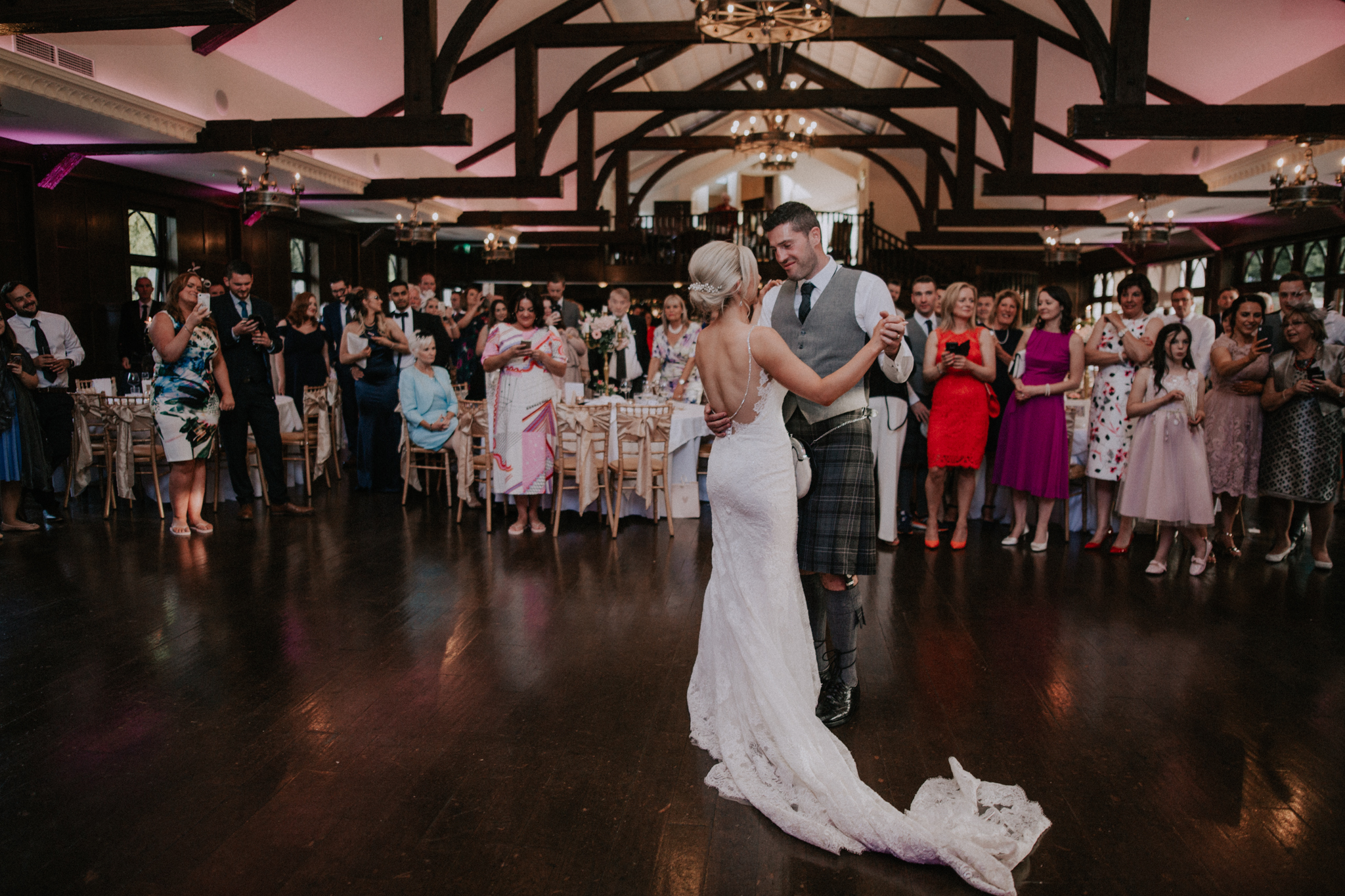 The first dance as a husband and wife at the Crossbasket castle