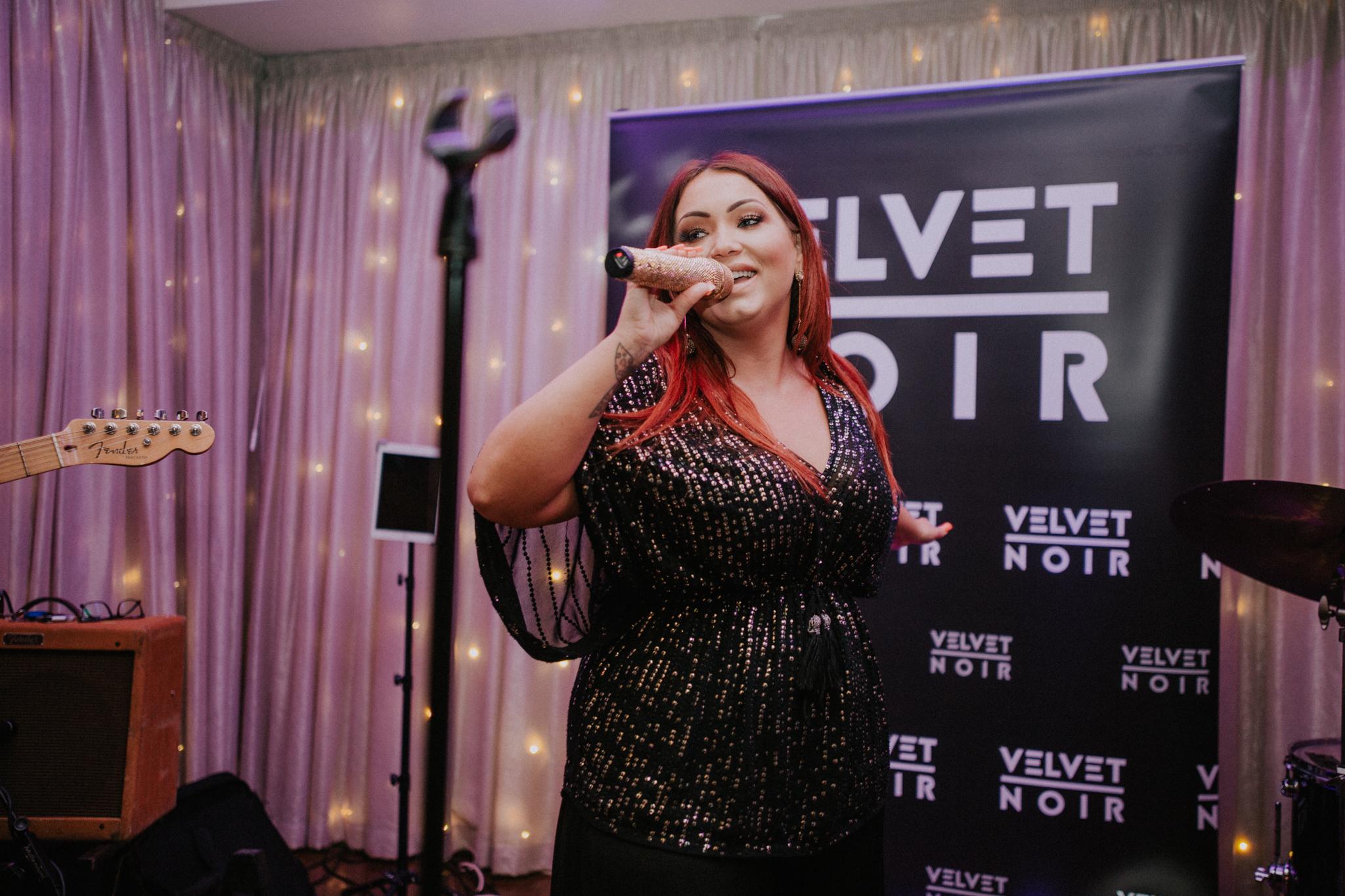 The lead singer of the band Velvet Noir