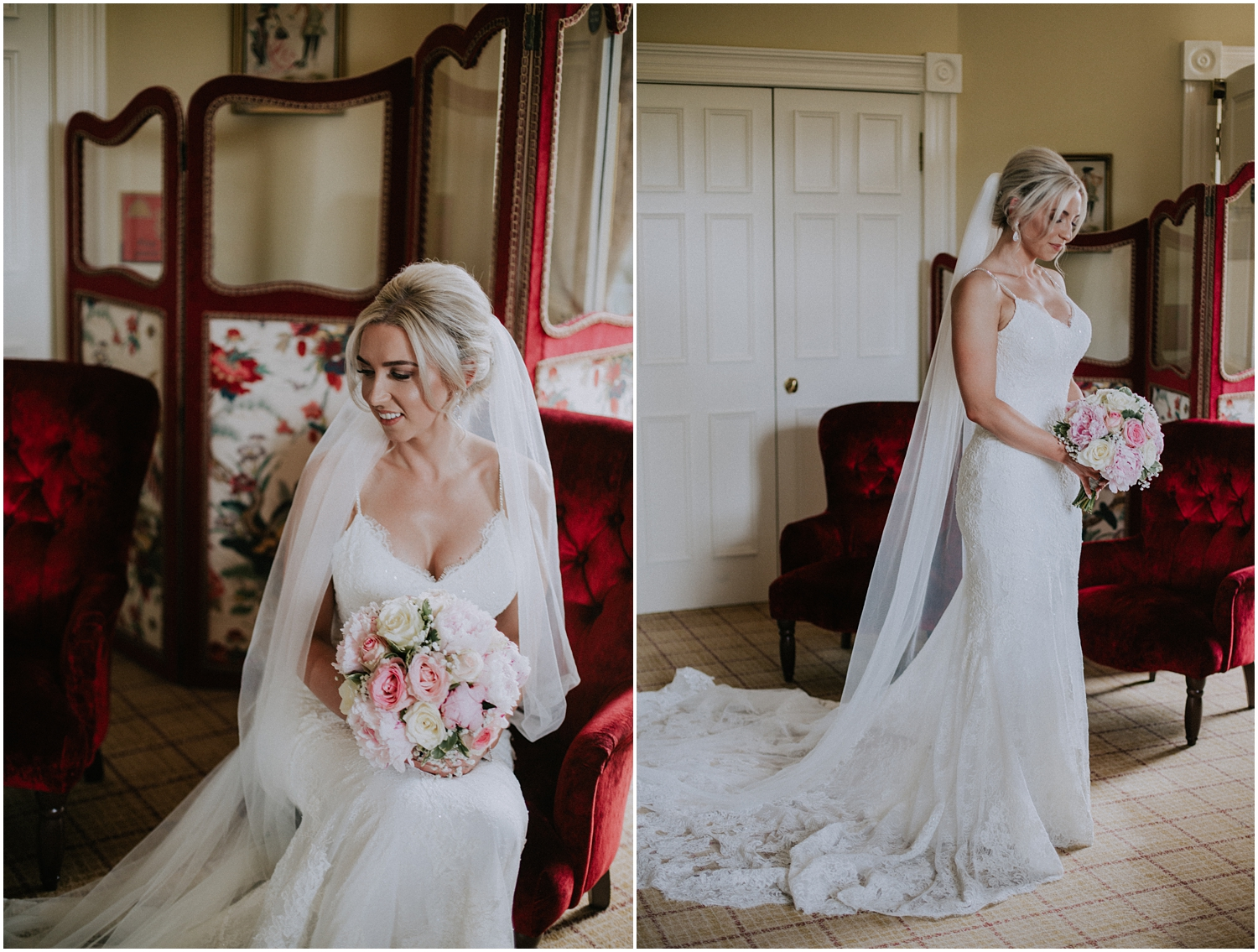 The stunning bridal portraits at the gorgeous Crossbasket Castle in Glasgow