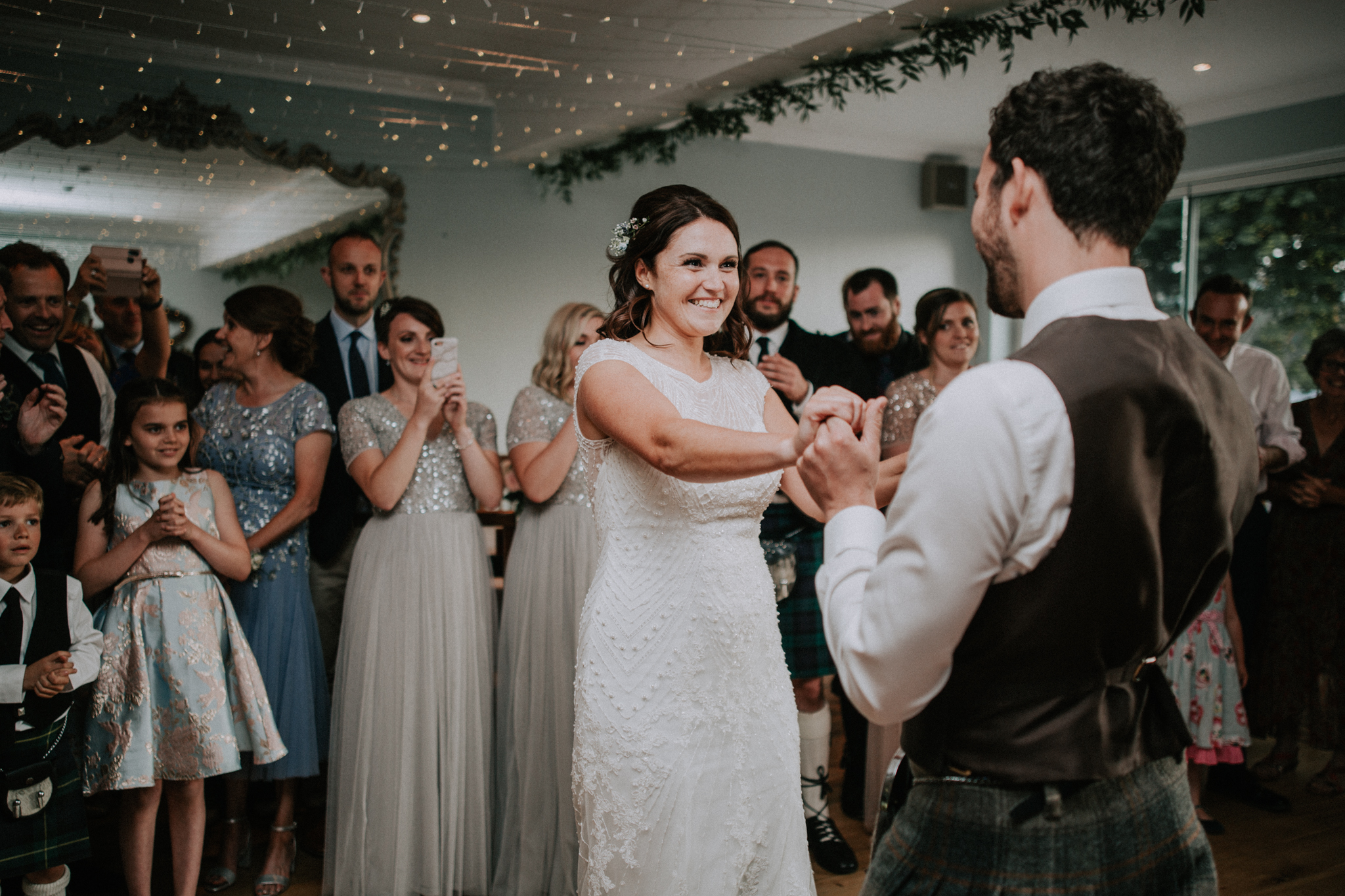 The first dance as a husband and wife at Altskeith House