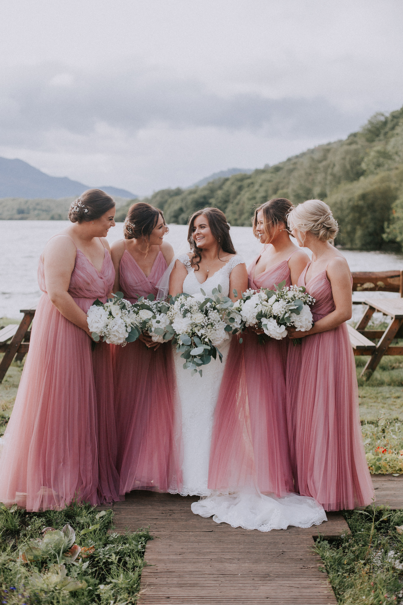 The bridal party shot at Venachar Lochside