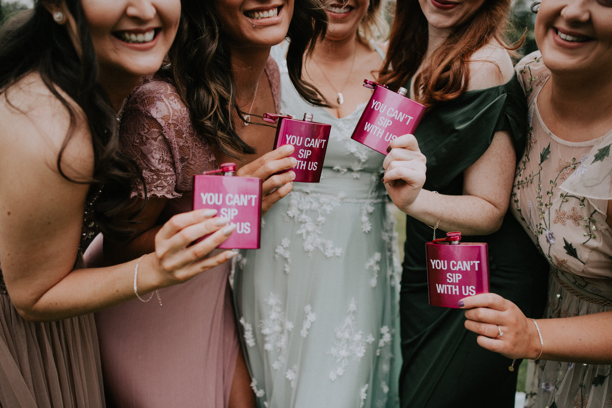 You can't sip with us. Alternative bridesmaids presents from the bride.