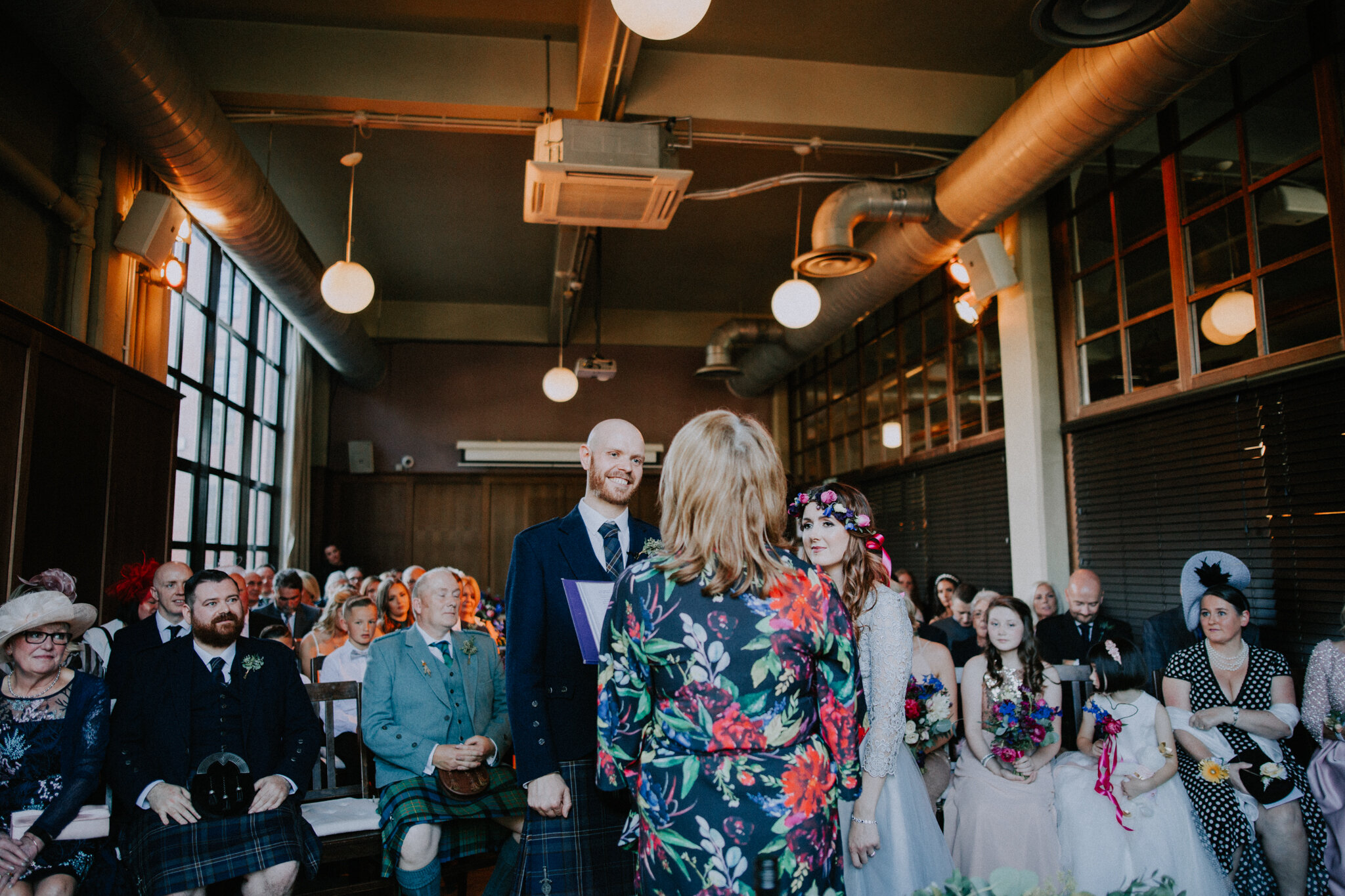 Wedding ceremony at West on the Green