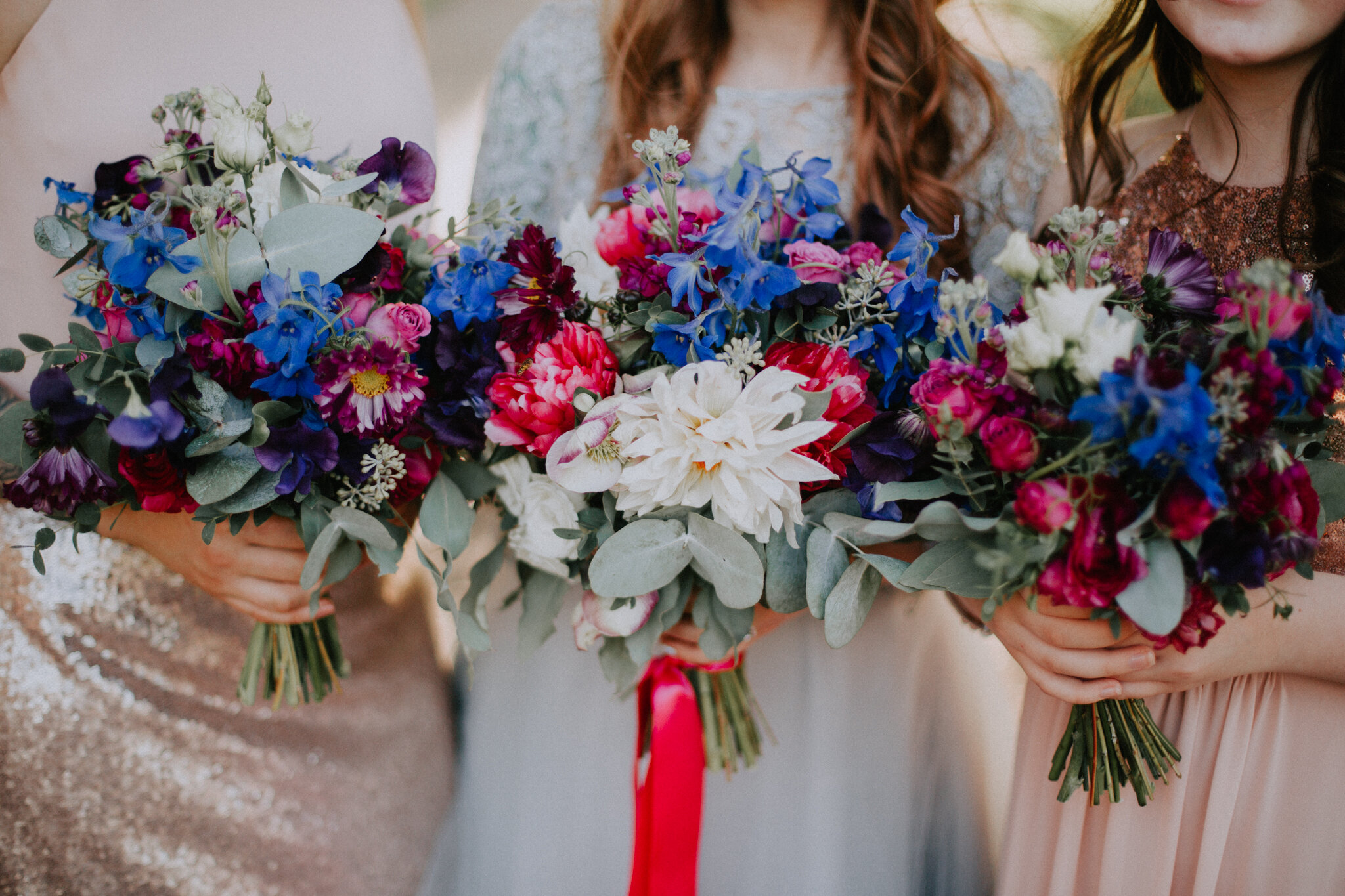 Close up photo of the wedding bouquets from the talented Little Botanica