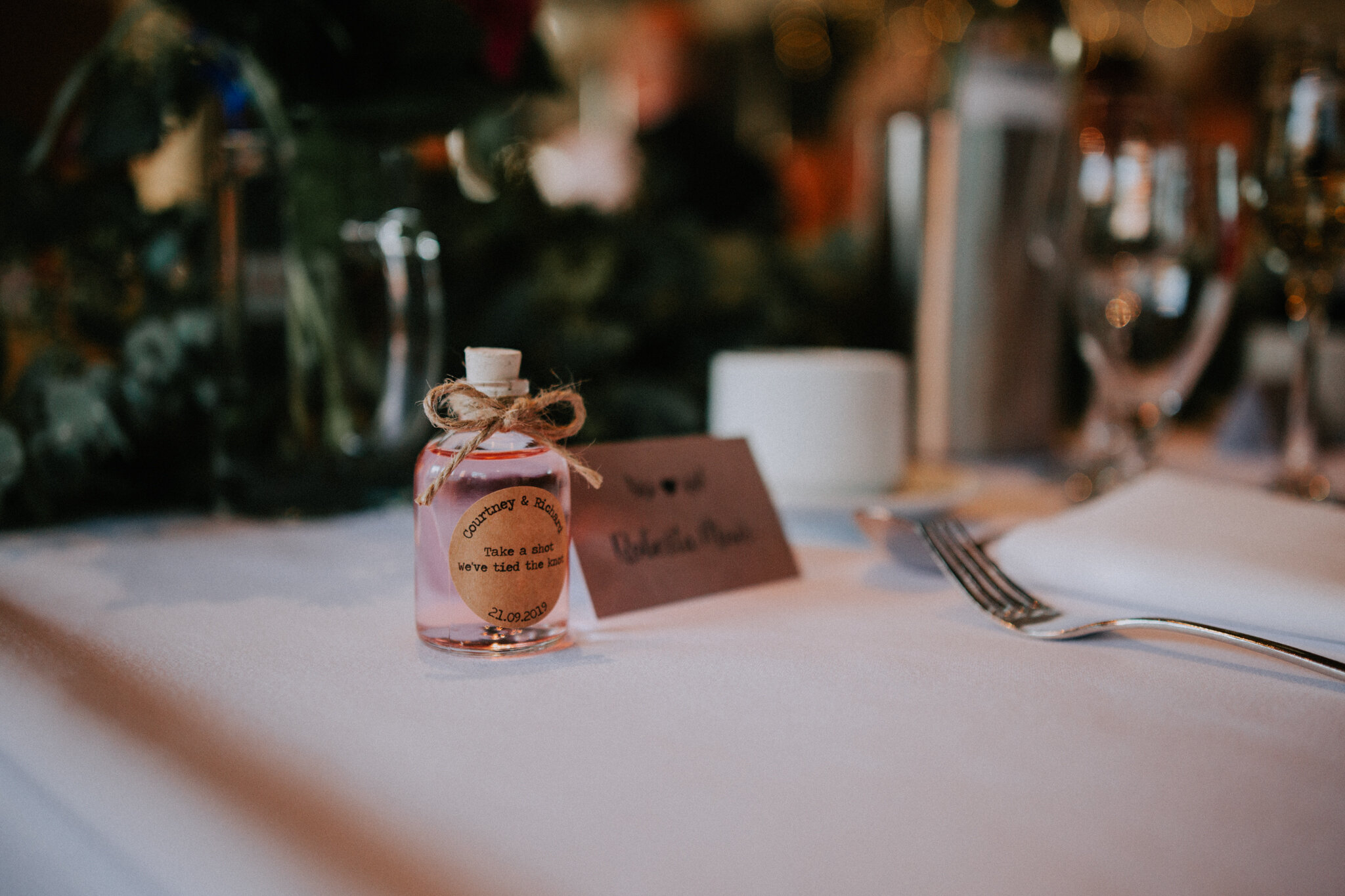 A favour present at West Brewery wedding venue