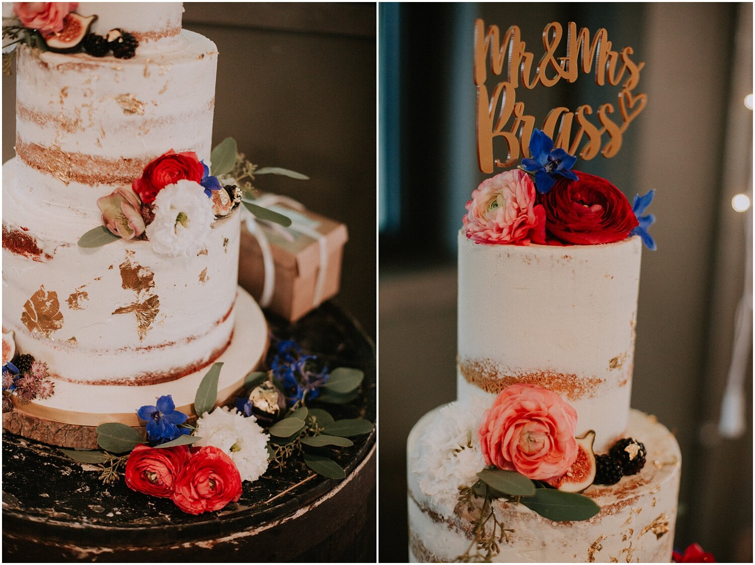 Wedding naked cake by the Little Cake Parlour