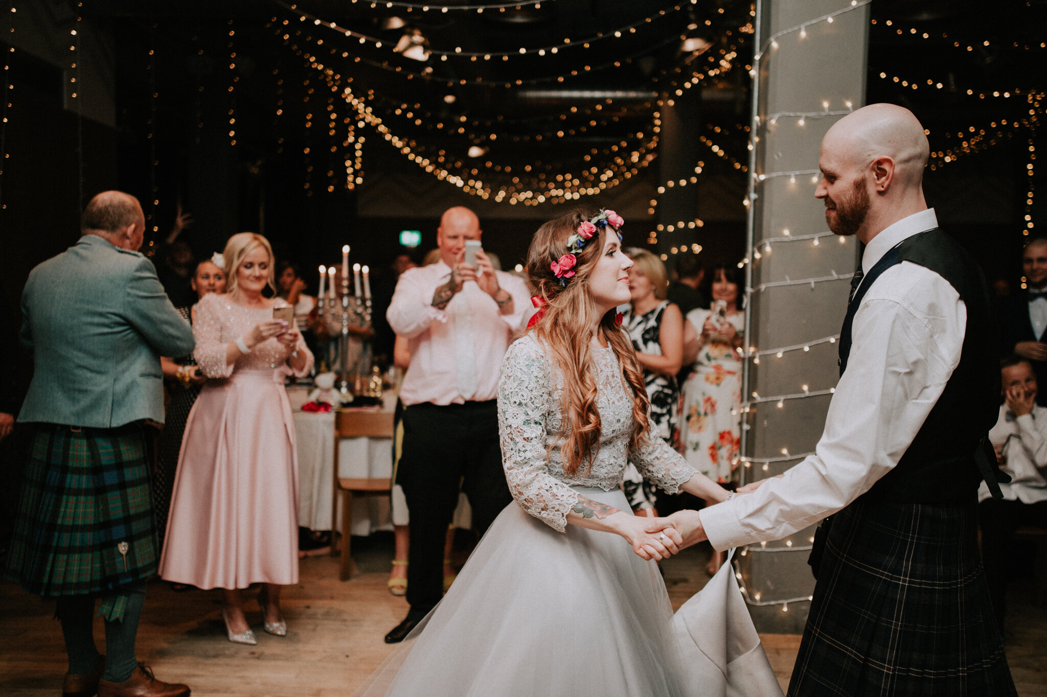 The first dance as a husband and wife at West Brewery