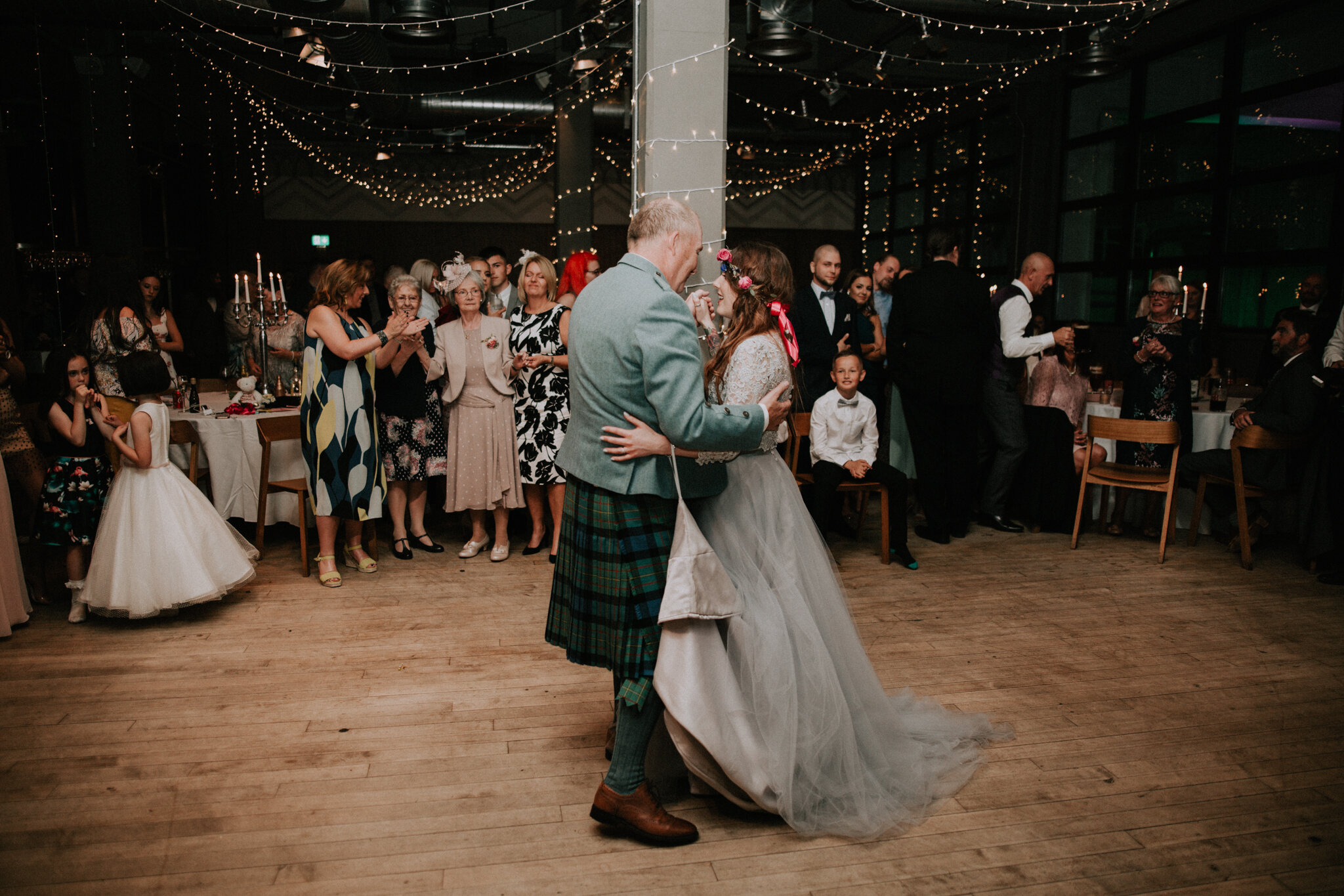 The first dance with the father at West on the Green