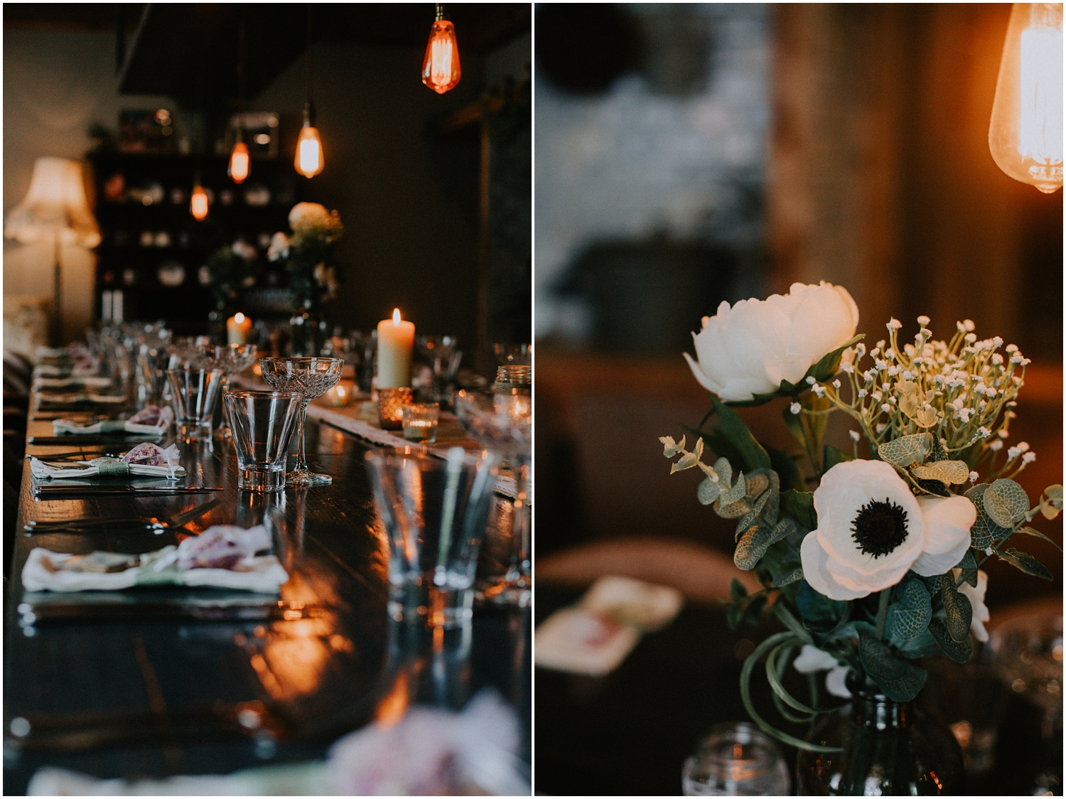 A stunning boho table decor at the Bothy