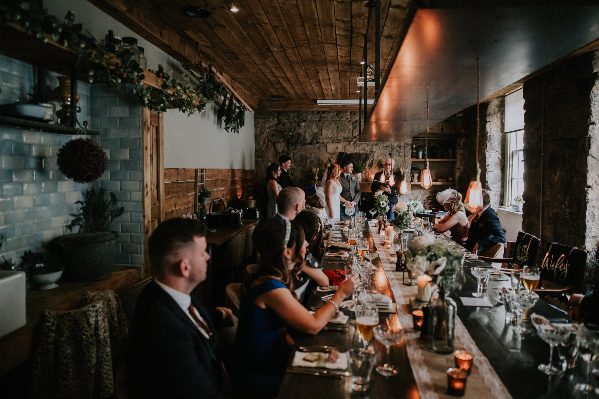 A small and intimate wedding ceremony at the Bothy